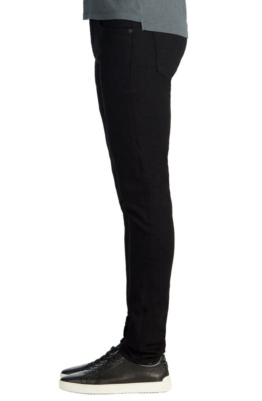 Skinny Jeans,                             Alternate thumbnail 5, color,                             TRIVOR BLACK