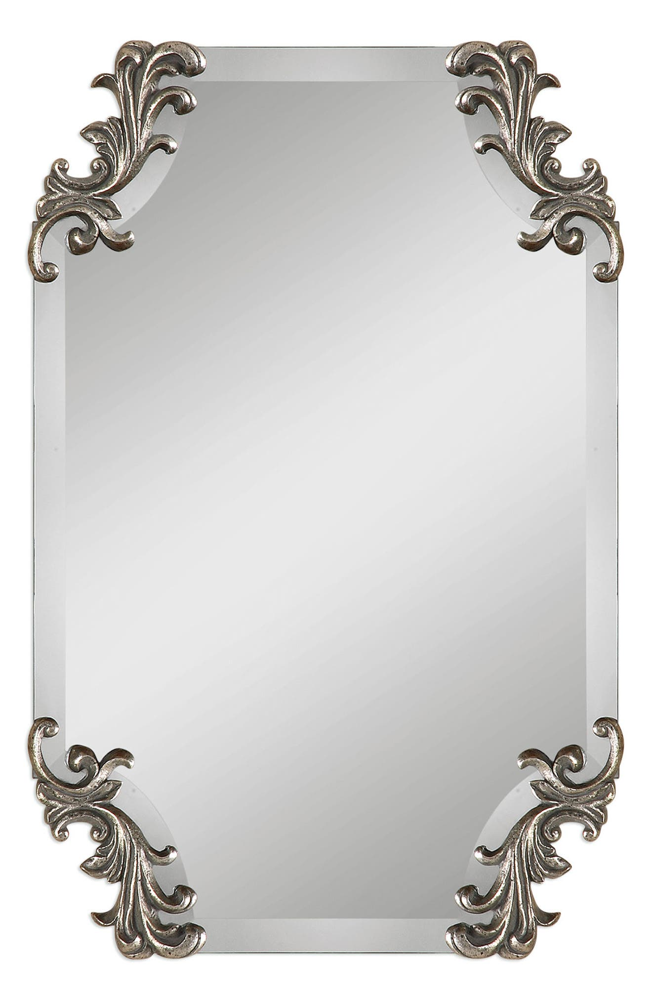 Andretta Baroque Wall Mirror,                             Main thumbnail 1, color,