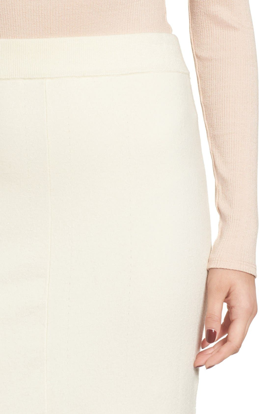 Fluted Wool Blend Skirt,                             Main thumbnail 1, color,                             900