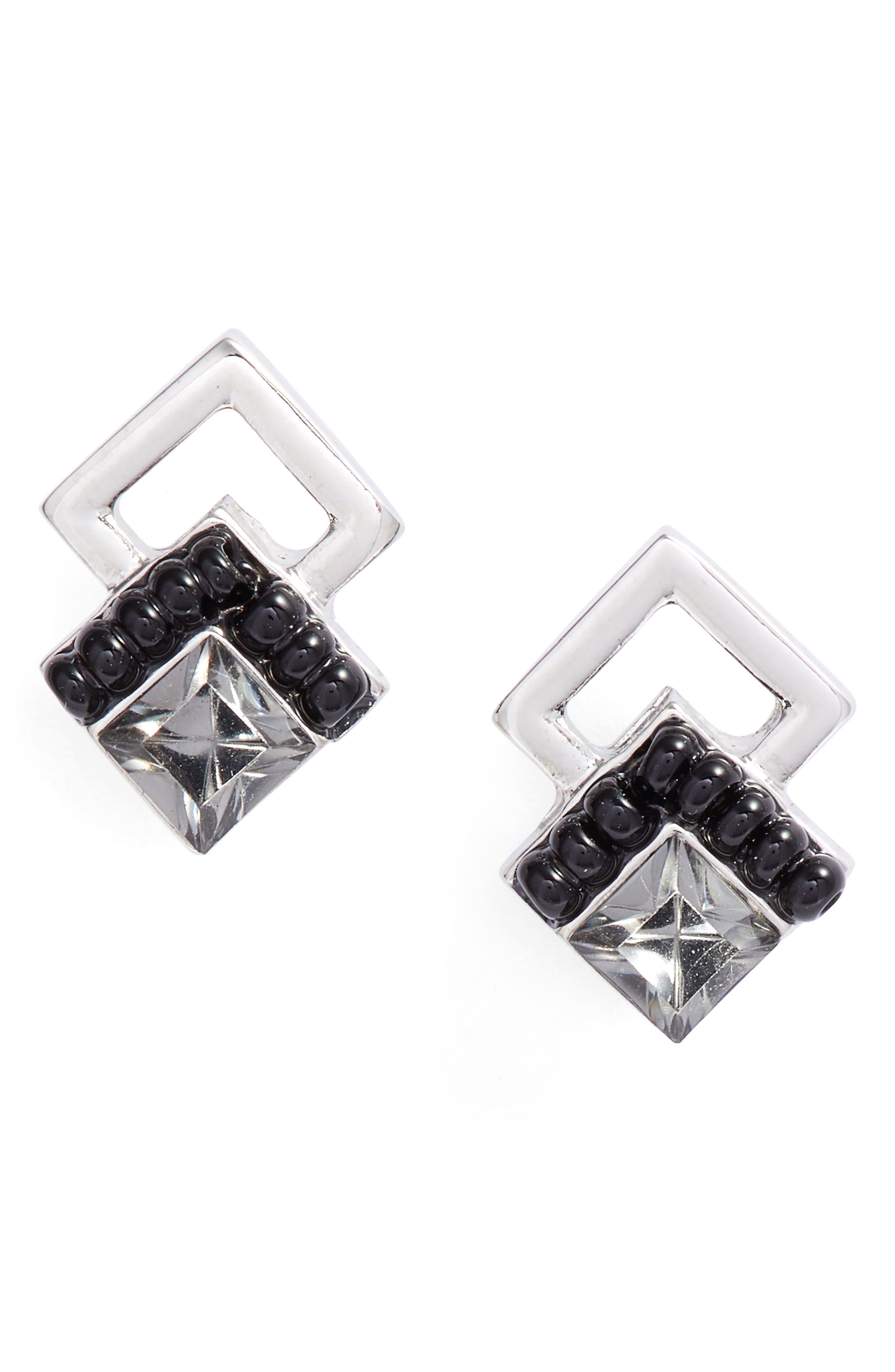 Chevron Stud Earrings,                             Main thumbnail 1, color,                             400