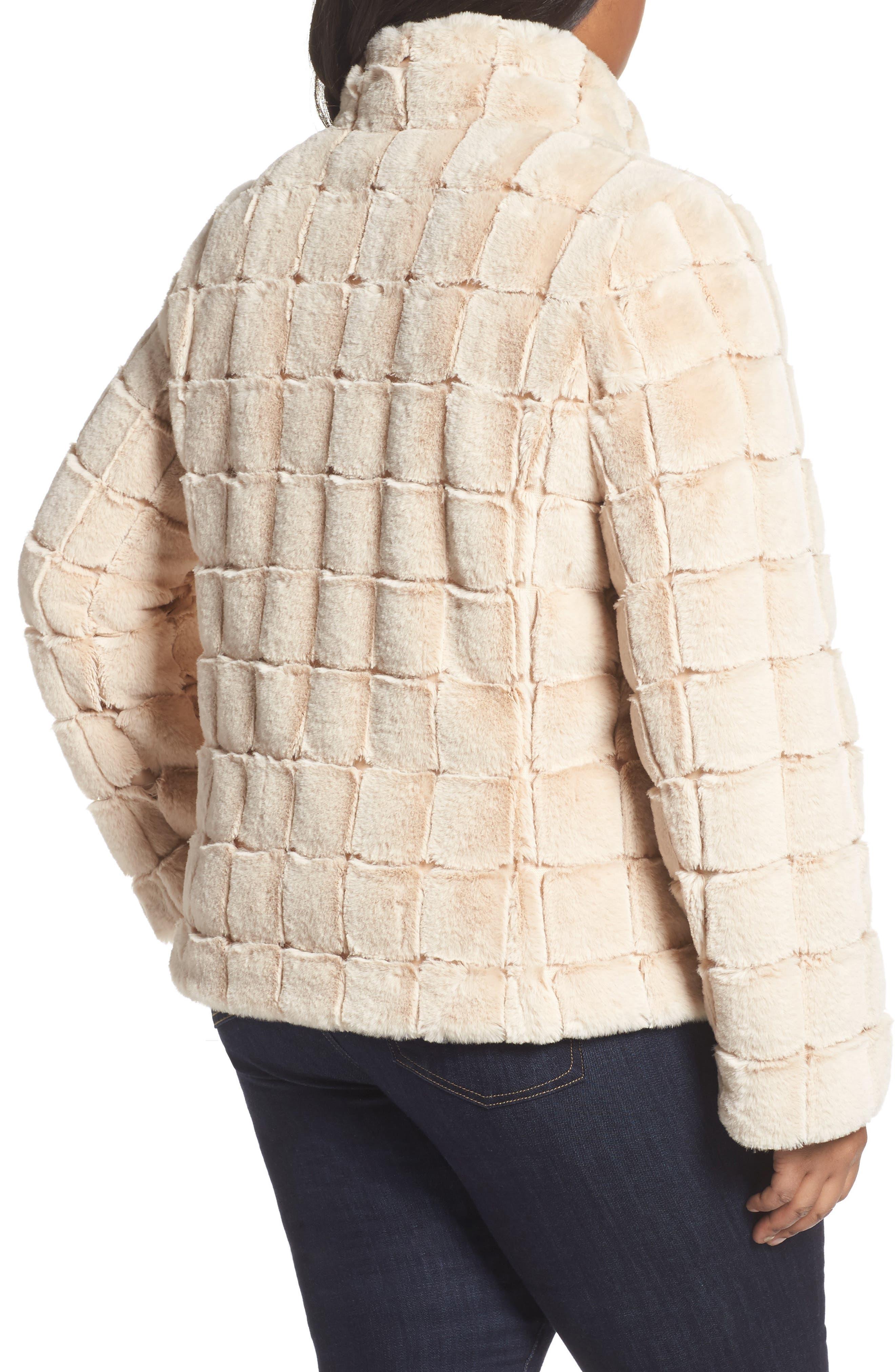 Faux Fur Jacket,                             Alternate thumbnail 2, color,                             BLUSH