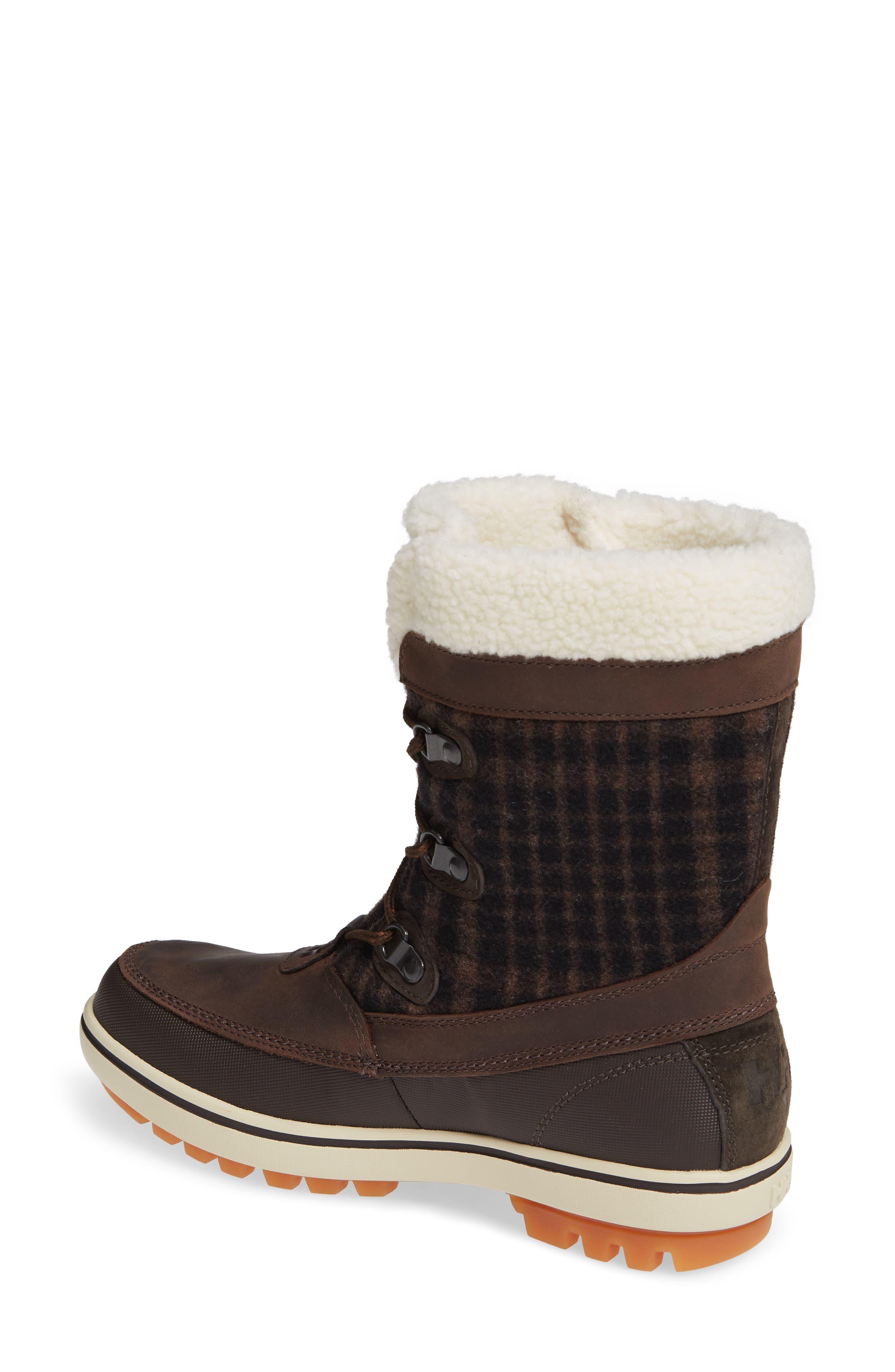 Georgina Snow Waterproof Boot,                             Alternate thumbnail 2, color,                             CLAY/ COFFEE BEAN