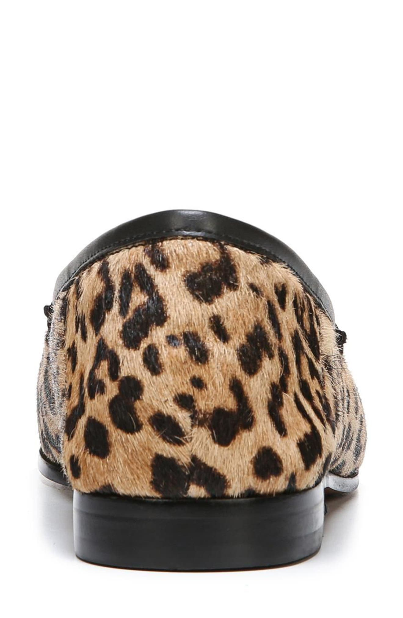 Lior Genuine Calf Hair Loafer,                             Alternate thumbnail 7, color,                             SAND LEOPARD CALF HAIR