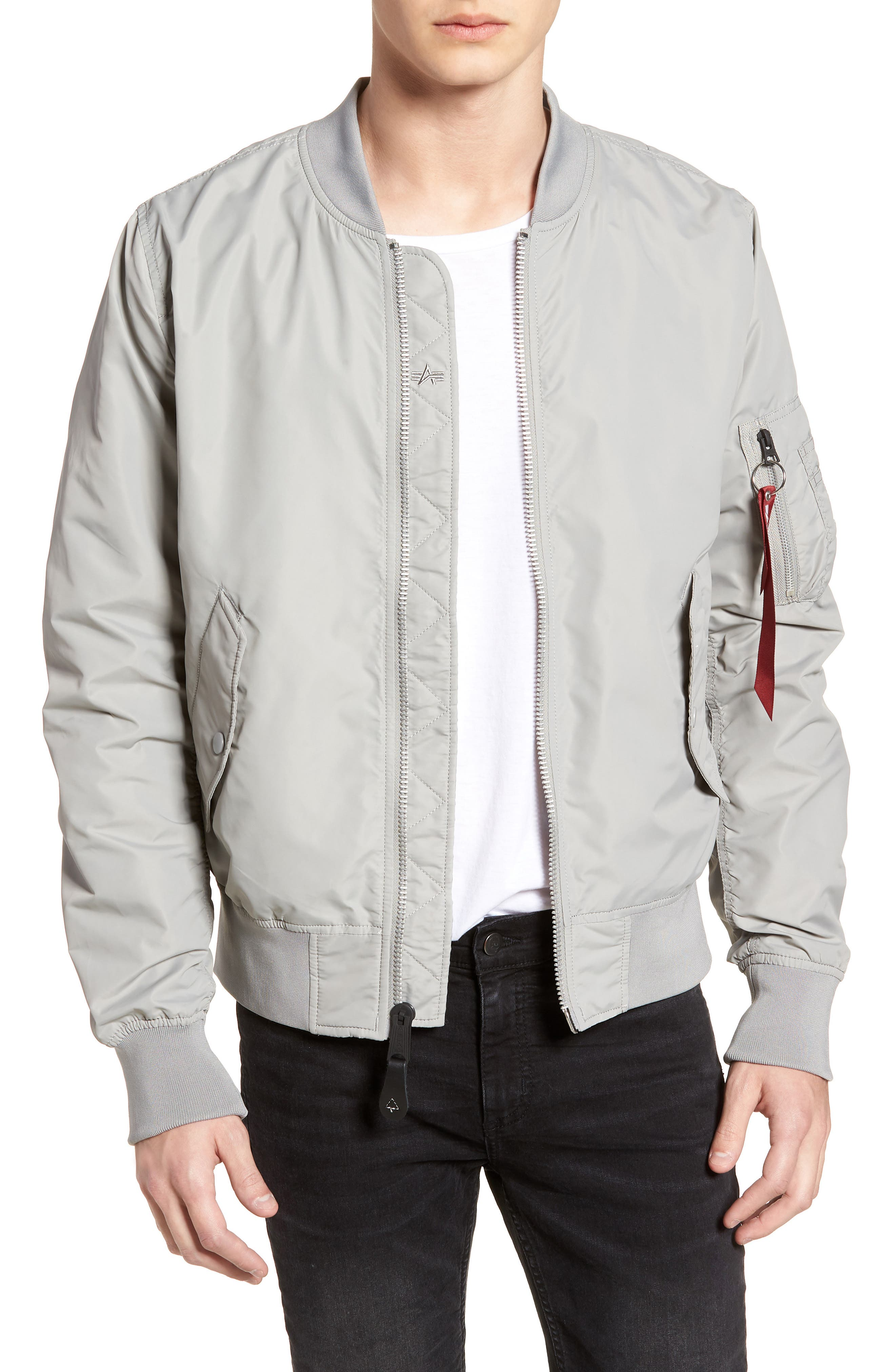ALPHA INDUSTRIES,                             'L-2B - Dragonfly' Water Resistant Reversible Flight Jacket,                             Main thumbnail 1, color,                             020