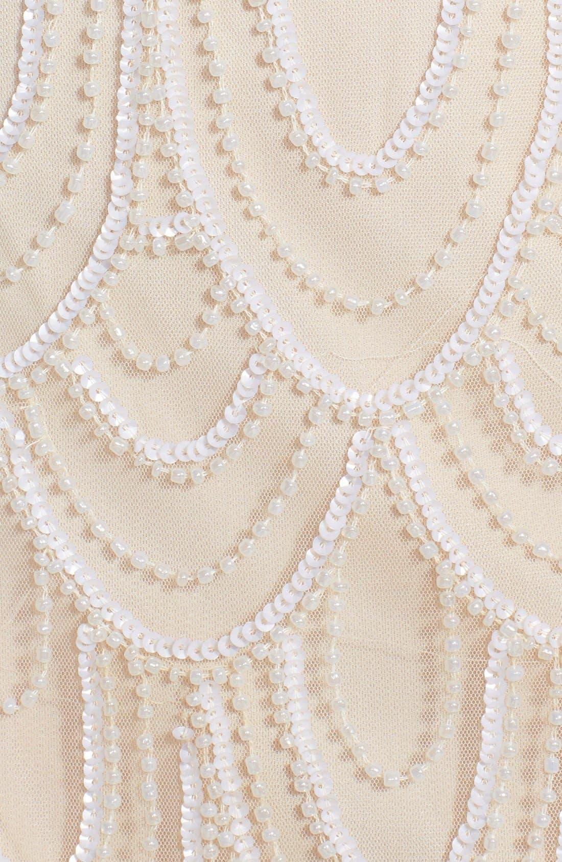 Embellished Mesh Sheath Dress,                             Alternate thumbnail 51, color,