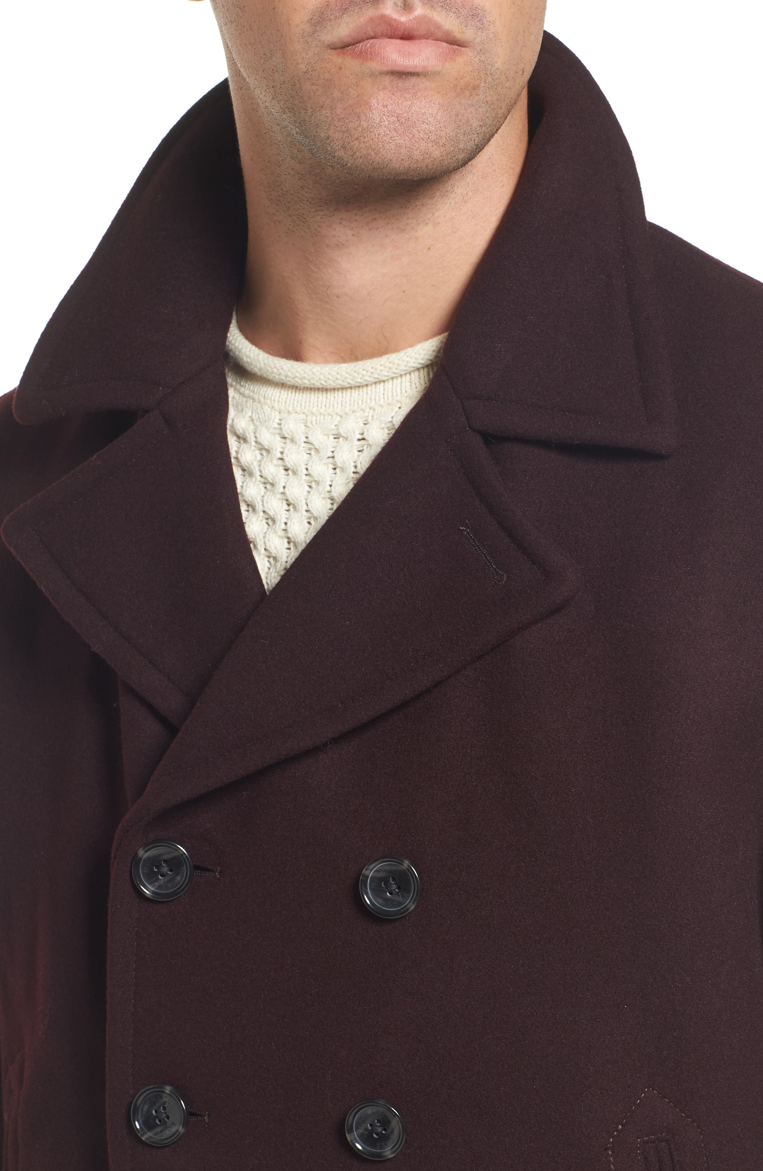Wool Blend Double Breasted Peacoat,                             Alternate thumbnail 51, color,