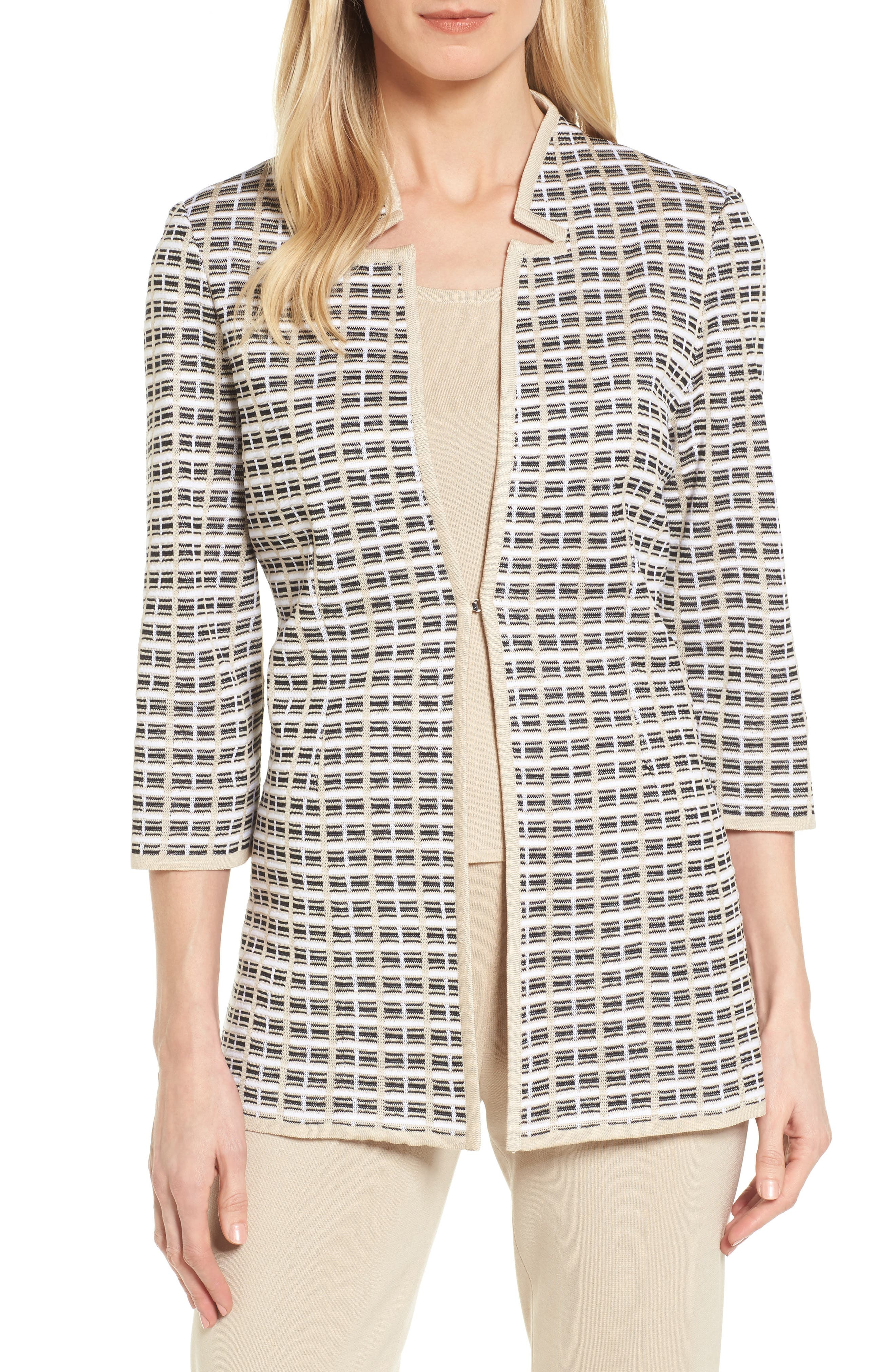 Geometric Jacquard Jacket,                         Main,                         color, 273