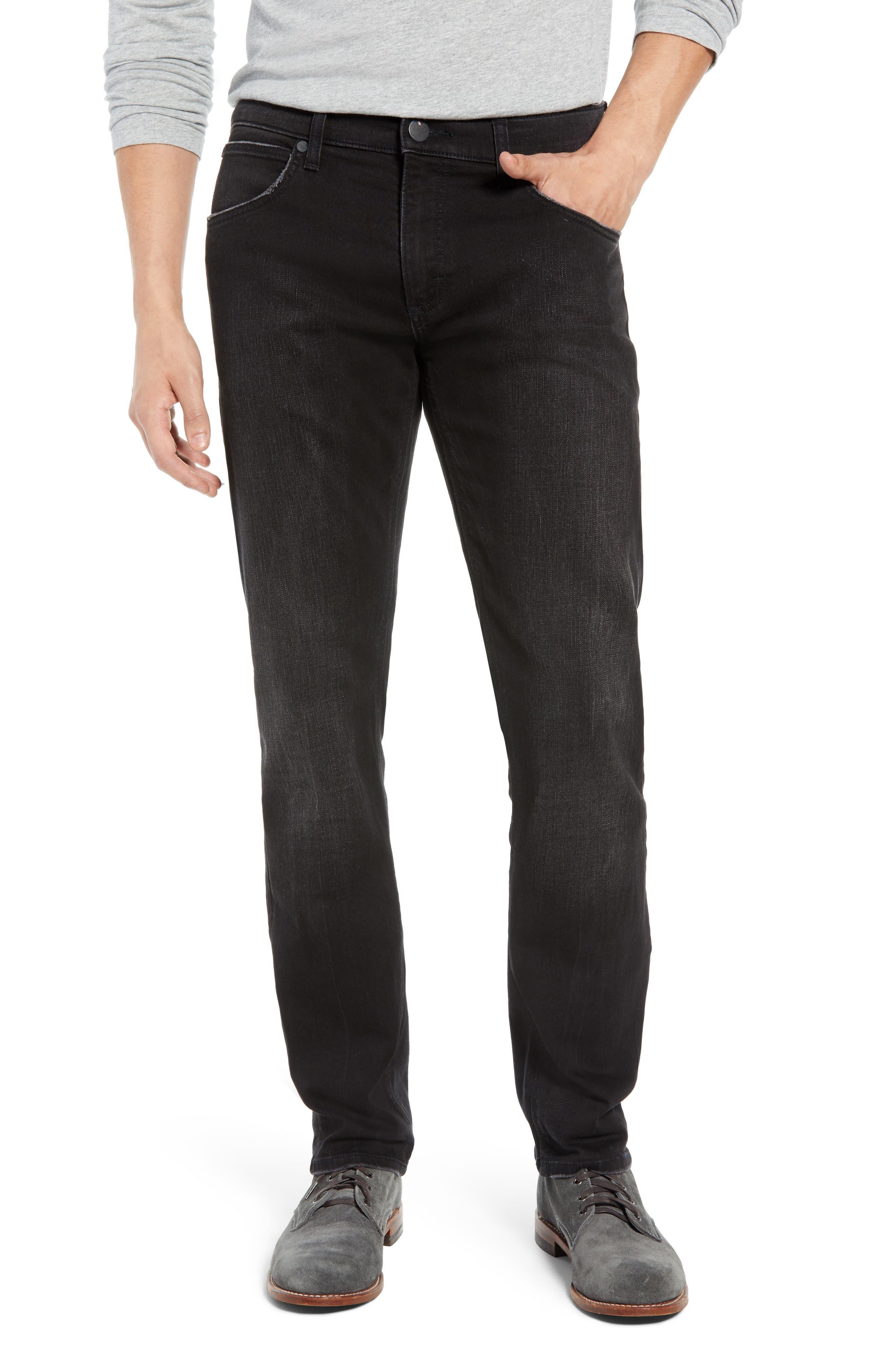 Greensboro Straight Leg Jeans,                             Main thumbnail 1, color,                             BLACK