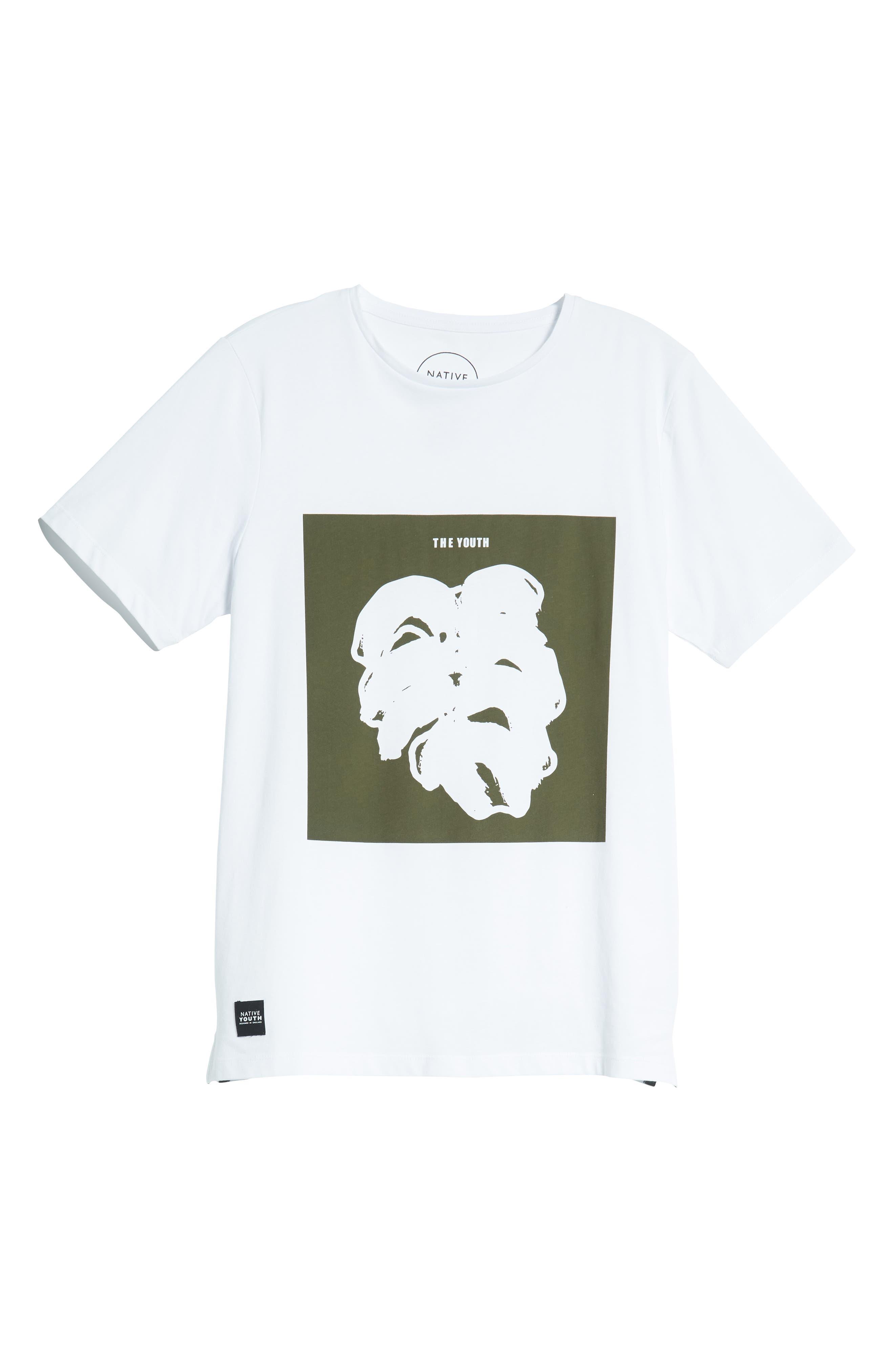 Placement Print T-Shirt,                             Alternate thumbnail 6, color,                             WHITE