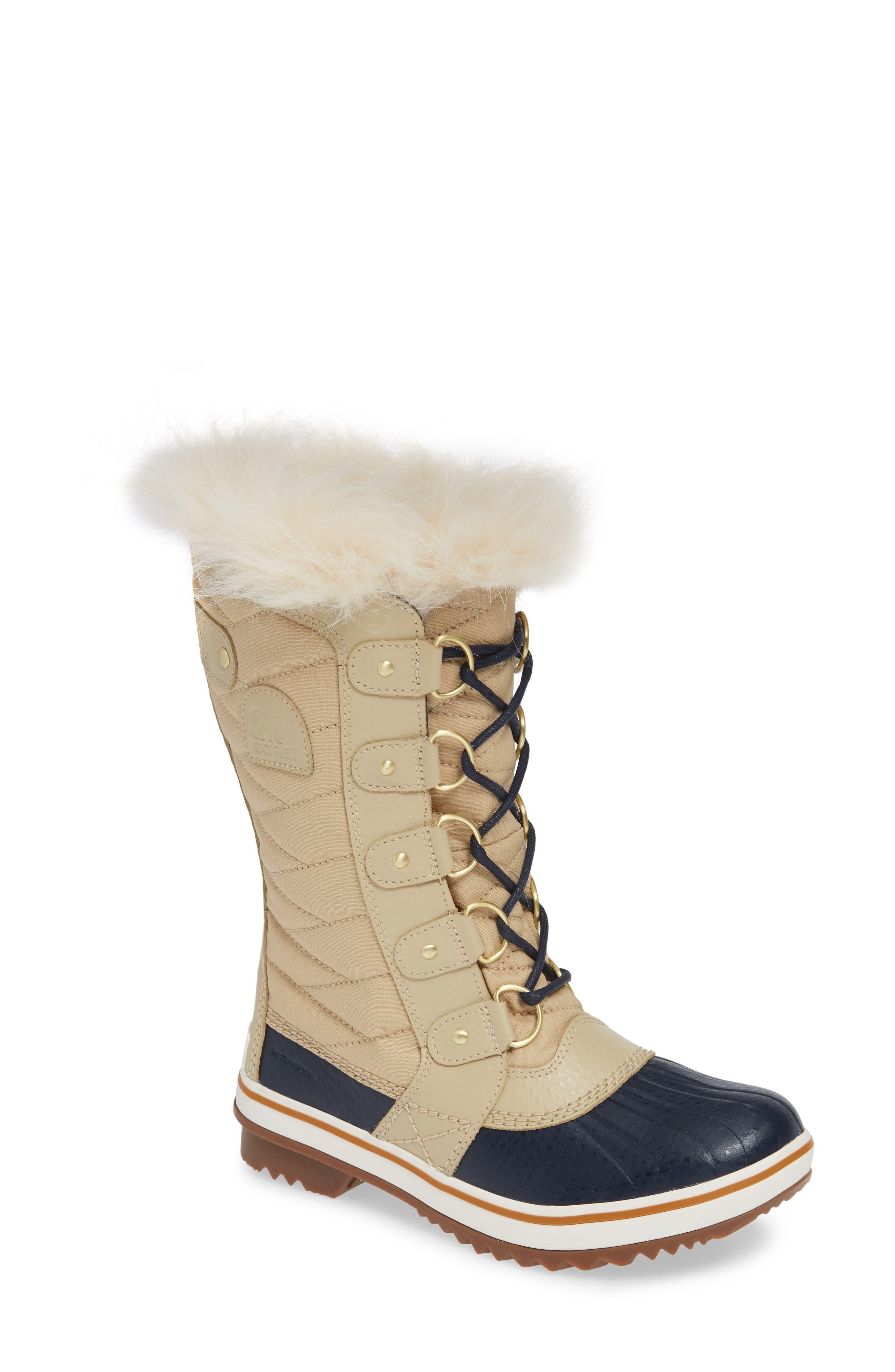 'Tofino II' Faux Fur Lined Waterproof Boot,                             Main thumbnail 1, color,                             OATMEAL