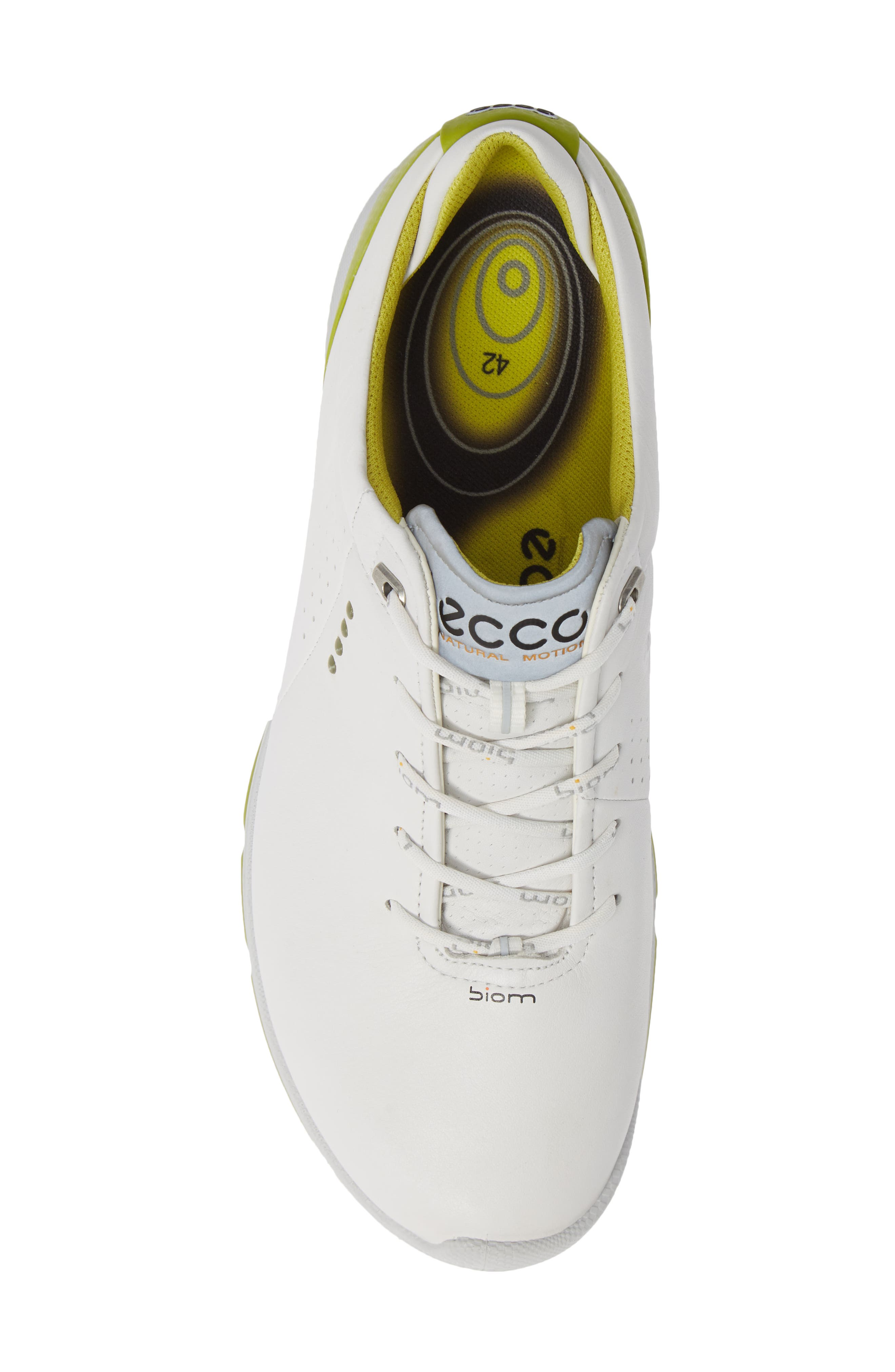 BIOM G 2 Free Gore-Tex<sup>®</sup> Golf Shoe,                             Alternate thumbnail 5, color,                             WHITE/ KIWI LEATHER
