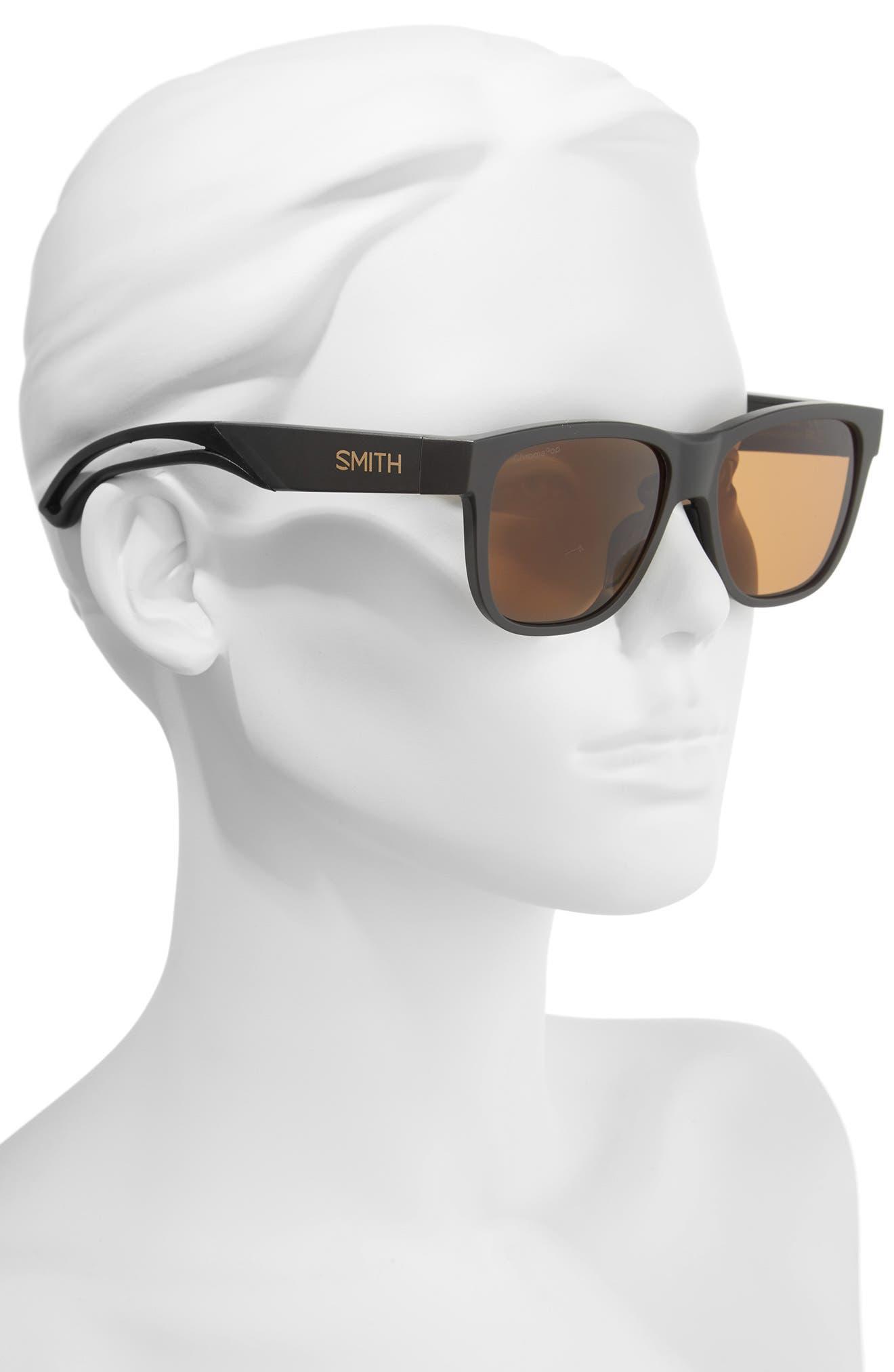 Lowdown Focus 56mm ChromaPop<sup>™</sup> Sunglasses,                             Alternate thumbnail 2, color,                             MATTE GRAVY/ BROWN