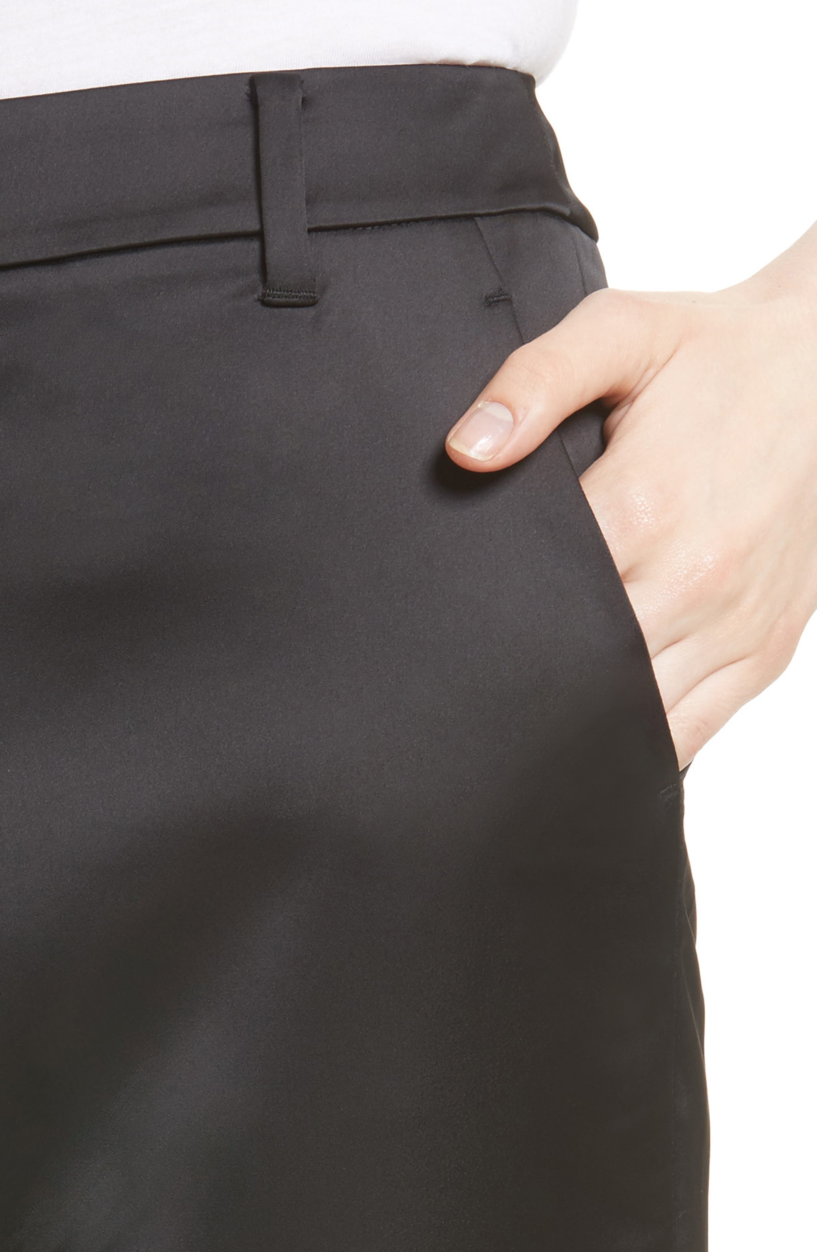 Gilar Slit Cuff Ankle Pants,                             Alternate thumbnail 4, color,                             001
