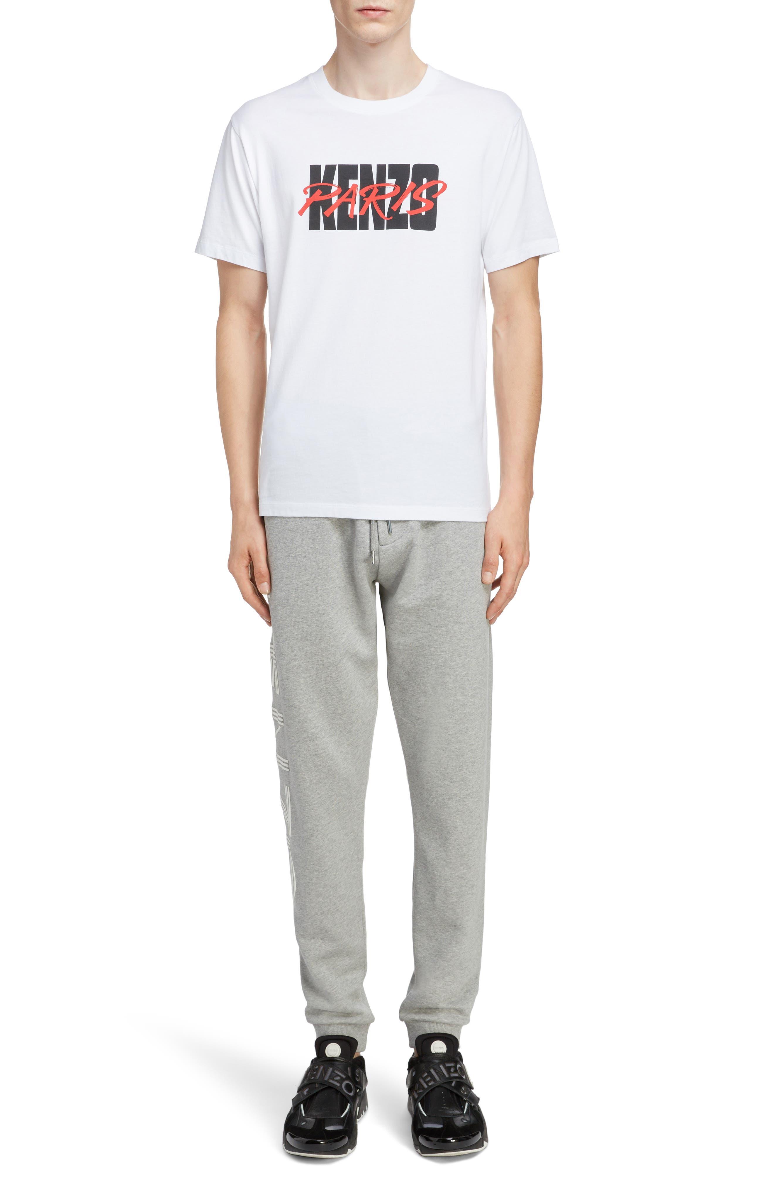 KENZO,                             Classic Fit Logo T-Shirt,                             Alternate thumbnail 6, color,                             WHITE