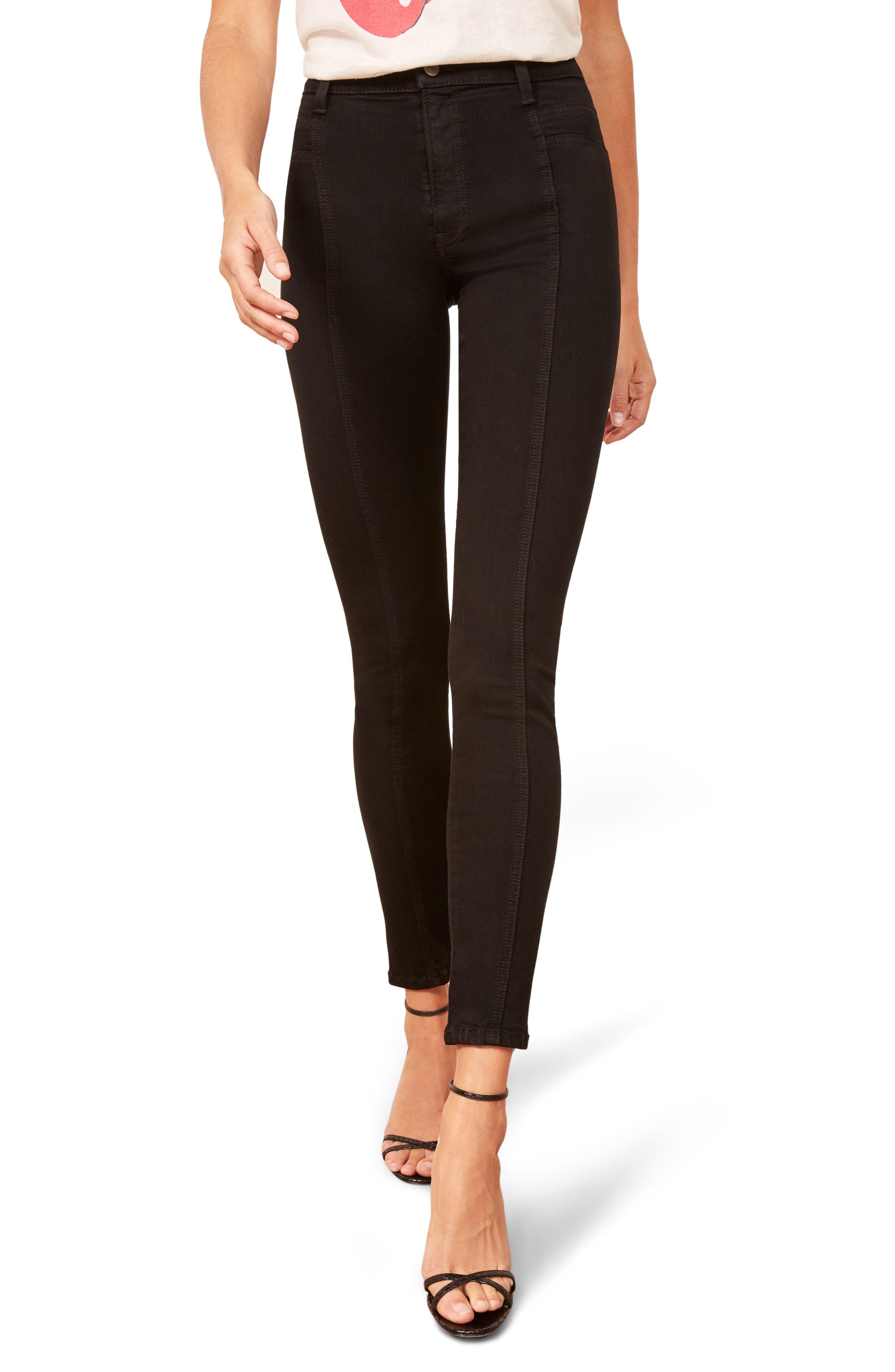Suzie Skinny Jeans, Main, color, BLACK