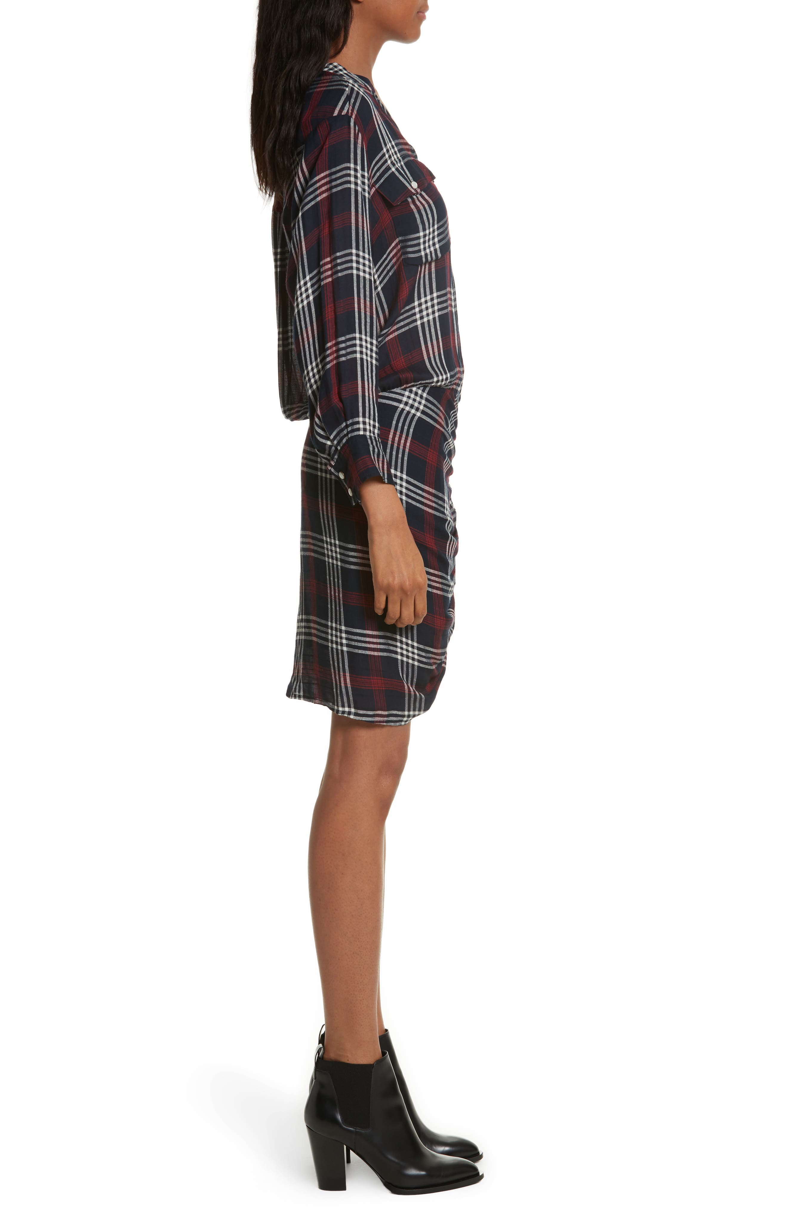 Emory Ruched Cargo Shirtdress,                             Alternate thumbnail 3, color,                             410