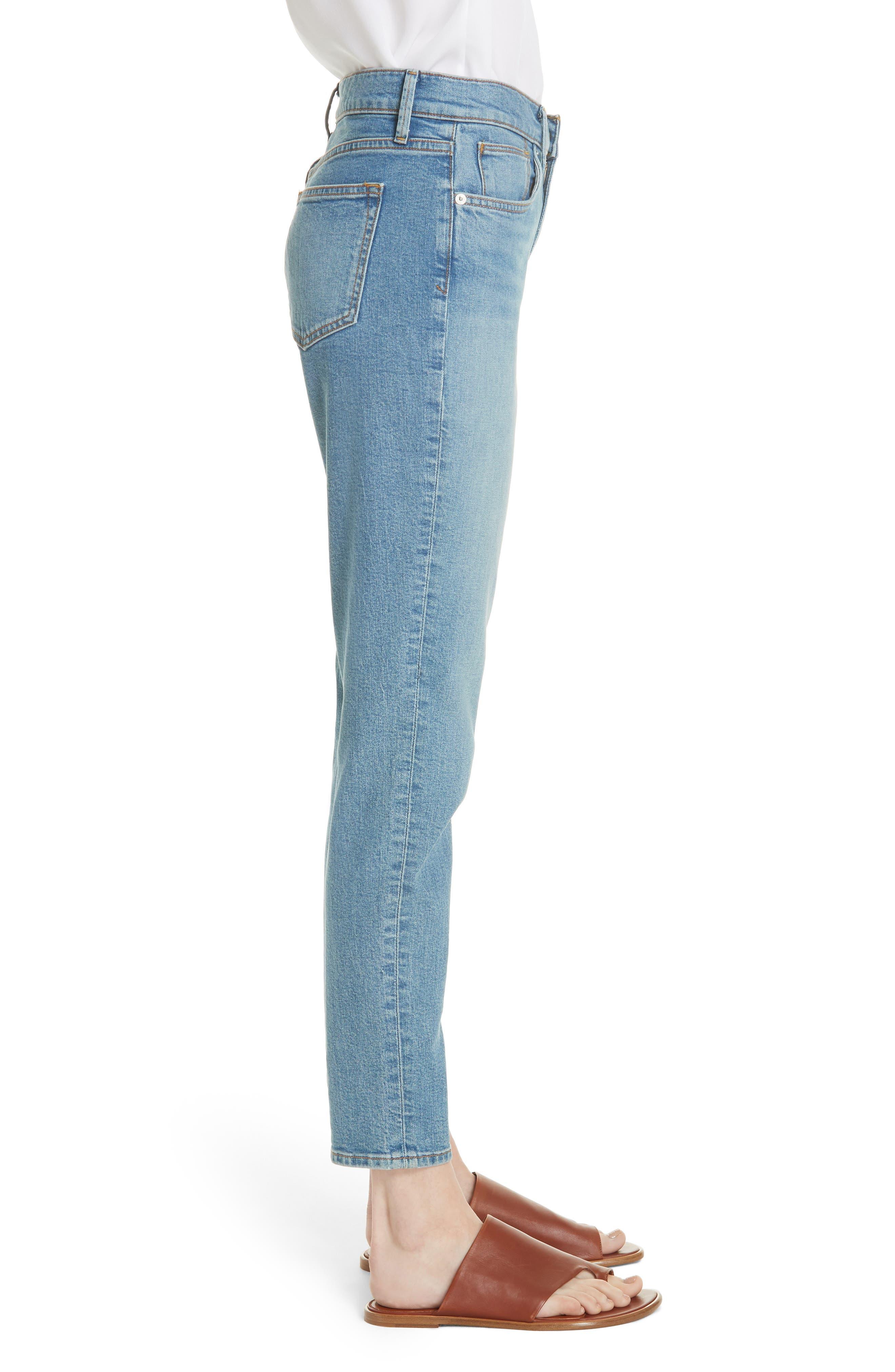 5-Pocket Skinny Jeans,                             Alternate thumbnail 3, color,                             LIGHT WASH