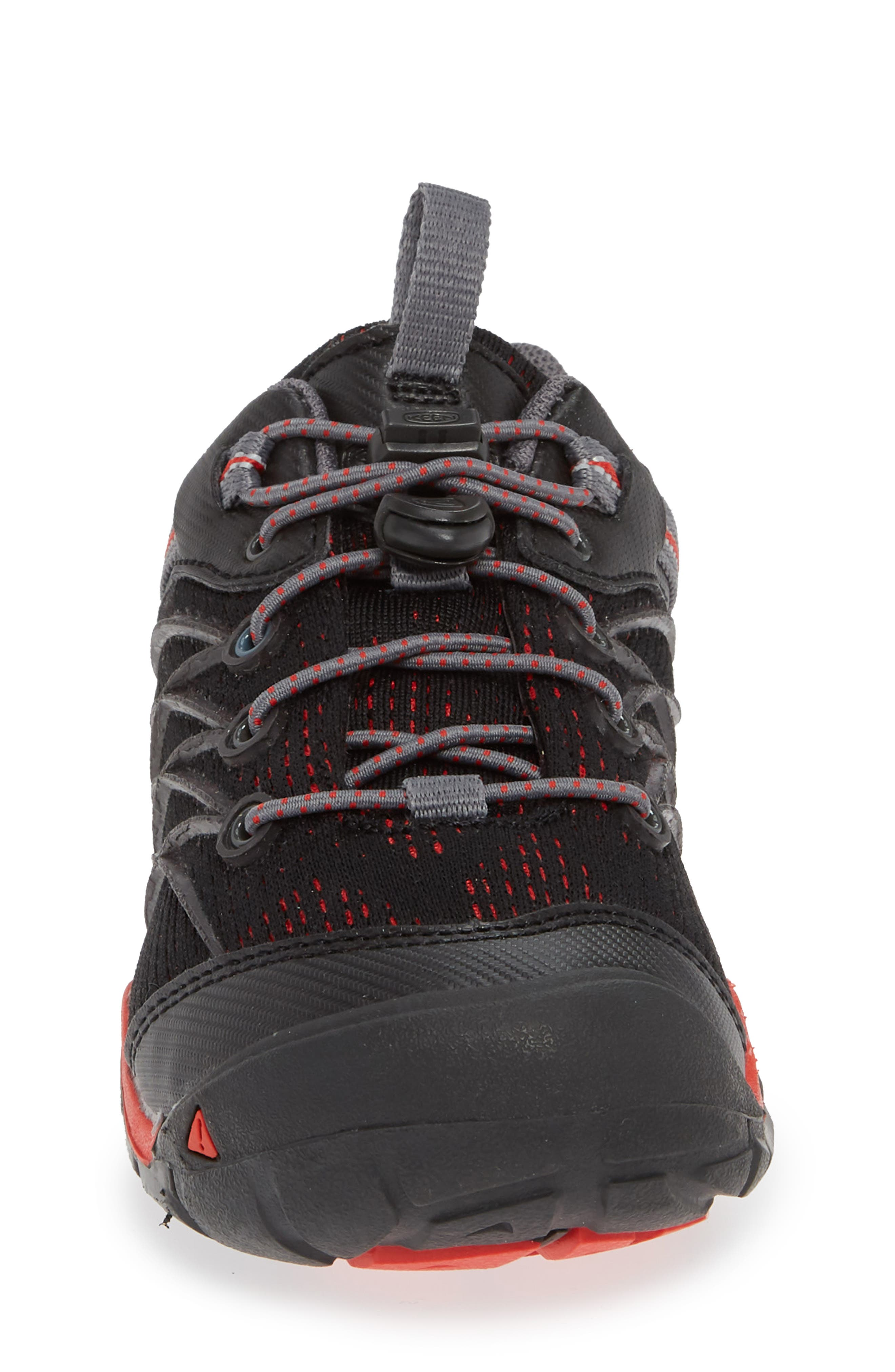 'Chandler CNX' Water Friendly Sneaker,                             Alternate thumbnail 4, color,                             RAVEN/ FIRE RED
