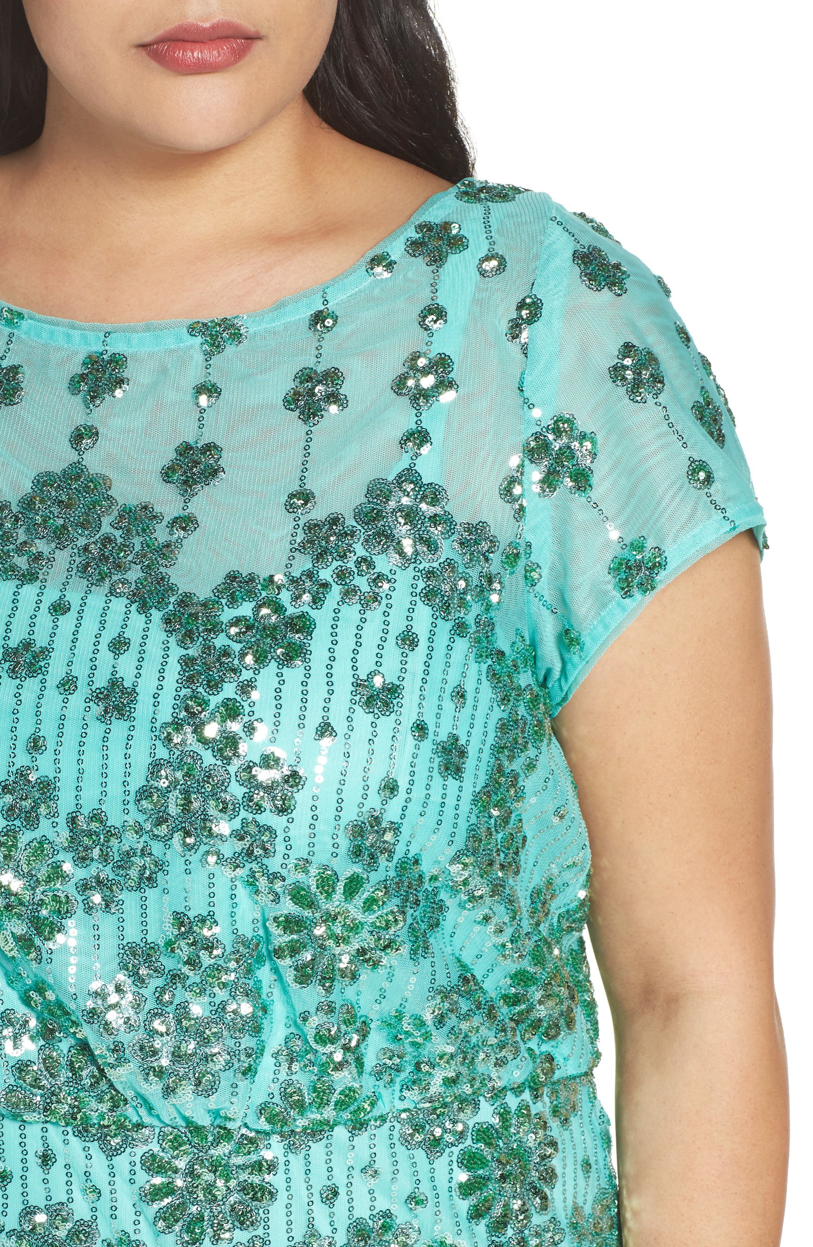 Embellished Blouson Gown,                             Alternate thumbnail 4, color,                             370