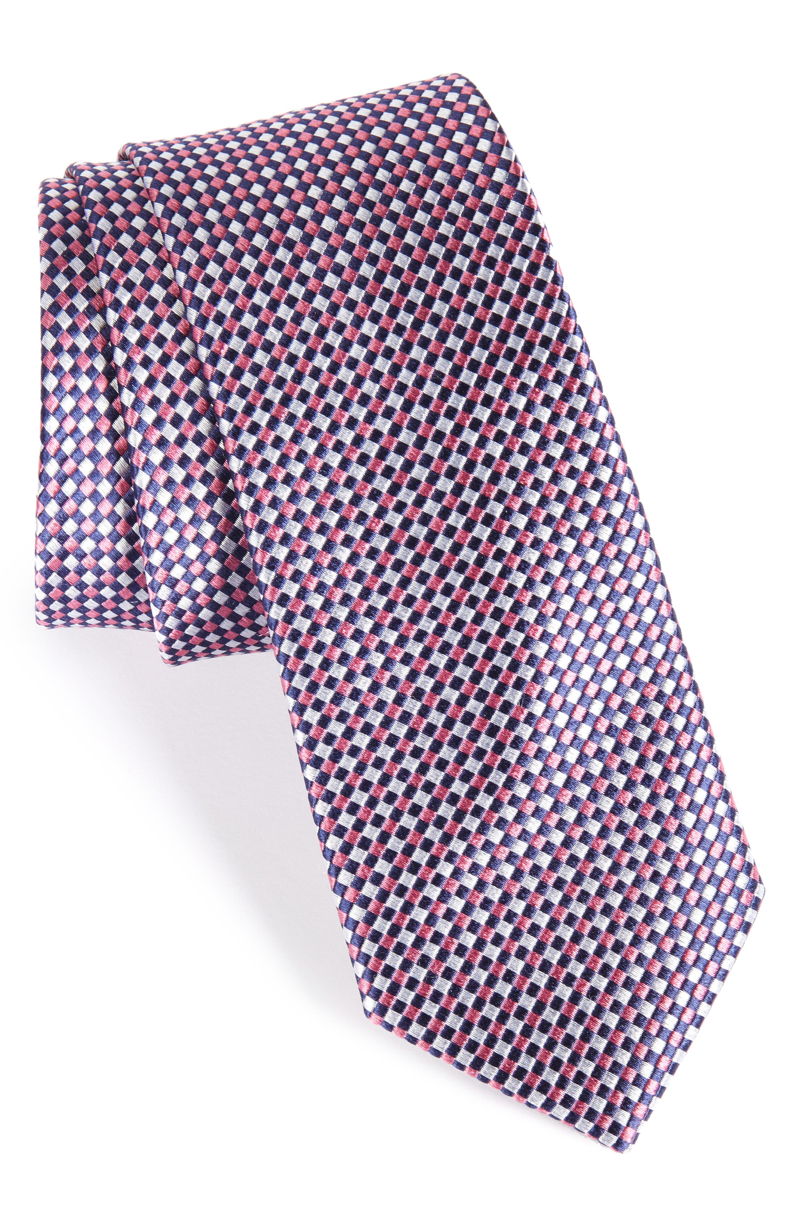 Solid Silk Skinny Tie,                             Main thumbnail 3, color,