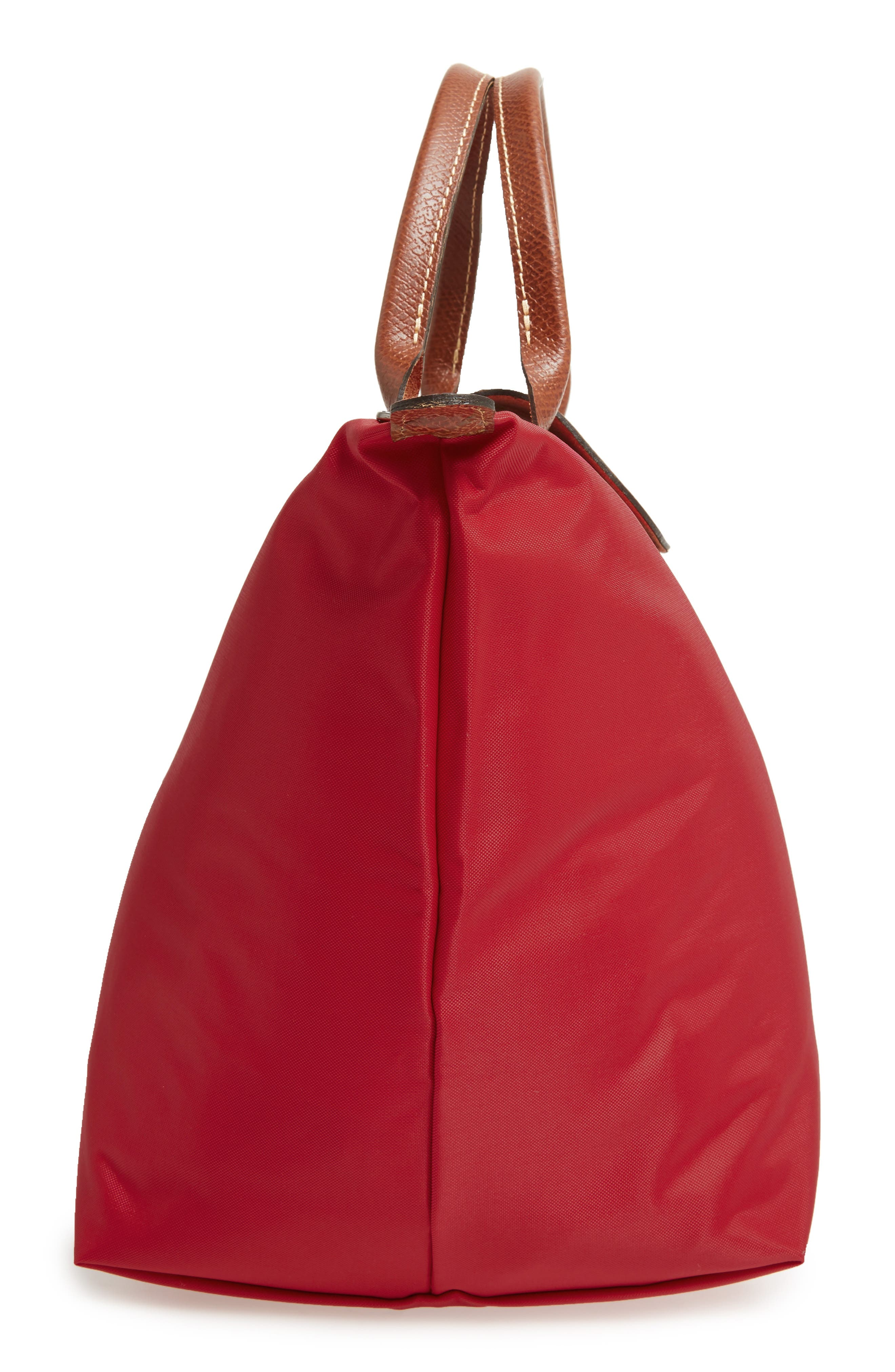 'Medium Le Pliage' Top Handle Tote,                             Alternate thumbnail 5, color,                             RED