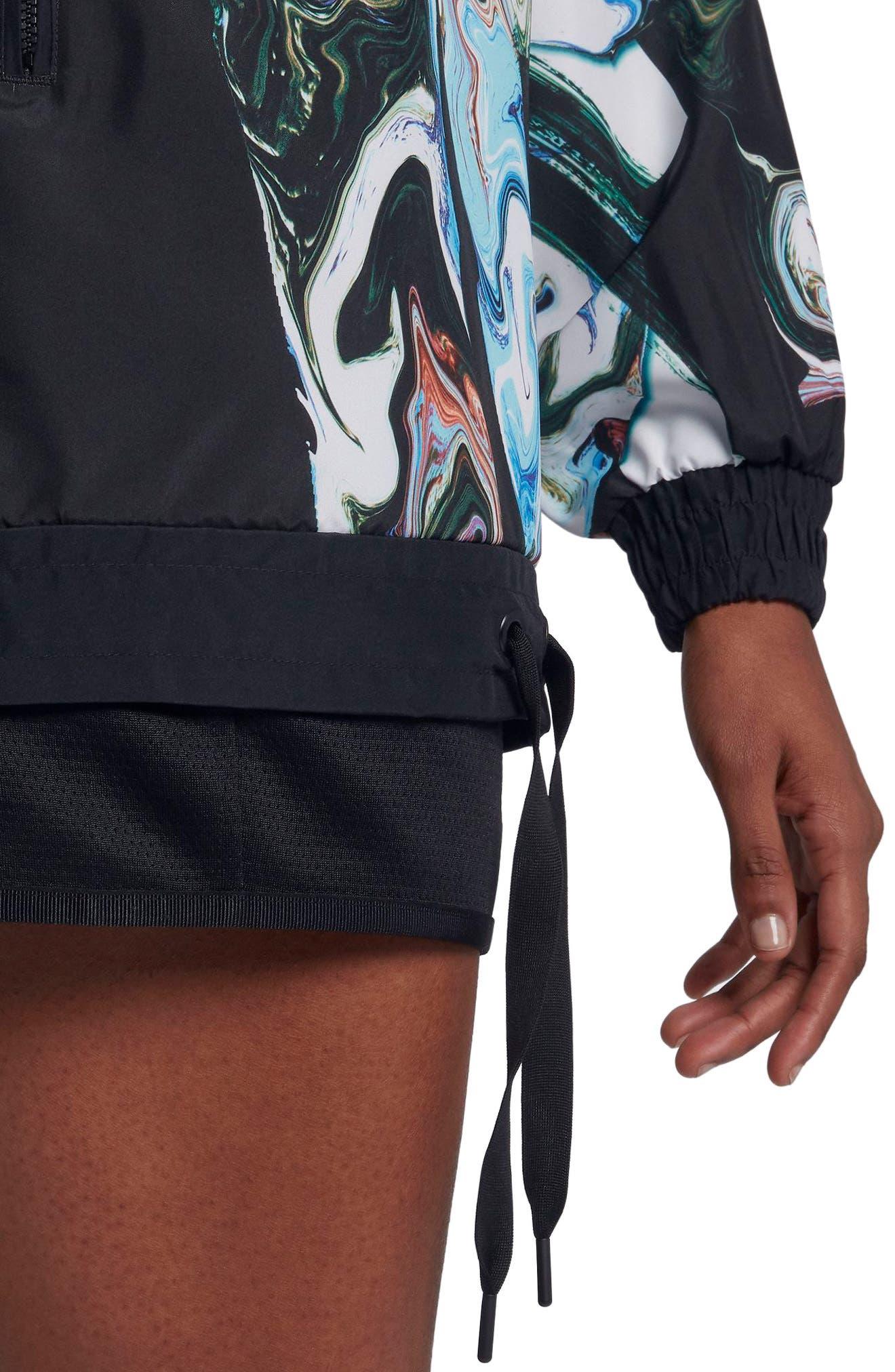 Sportswear Women's Marble Print Hooded Jacket,                             Alternate thumbnail 6, color,