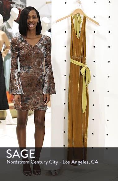Velvet Halter Maxi Dress, sales video thumbnail