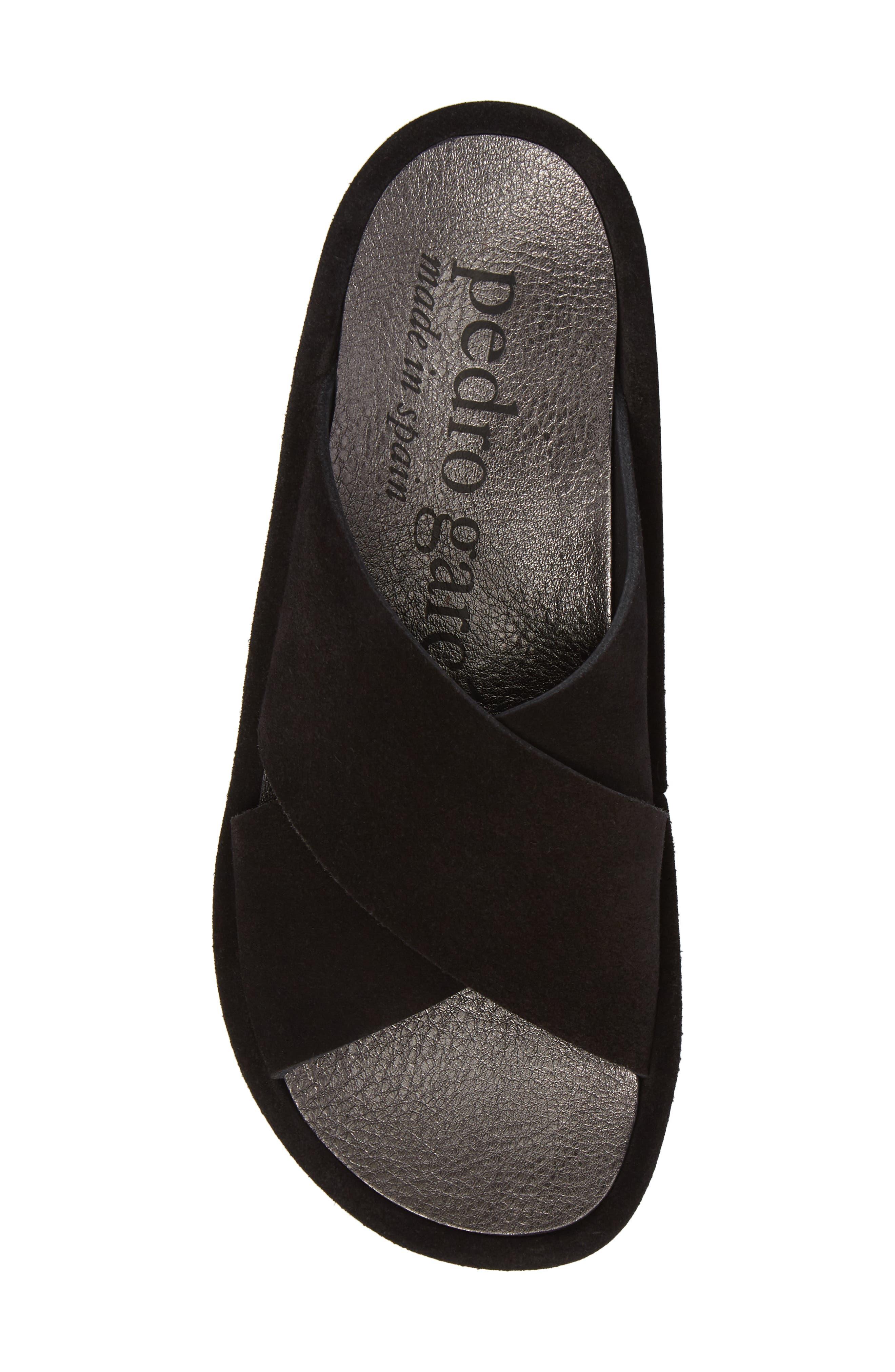 Lucca Platform Slide Sandal,                             Alternate thumbnail 5, color,                             BLACK