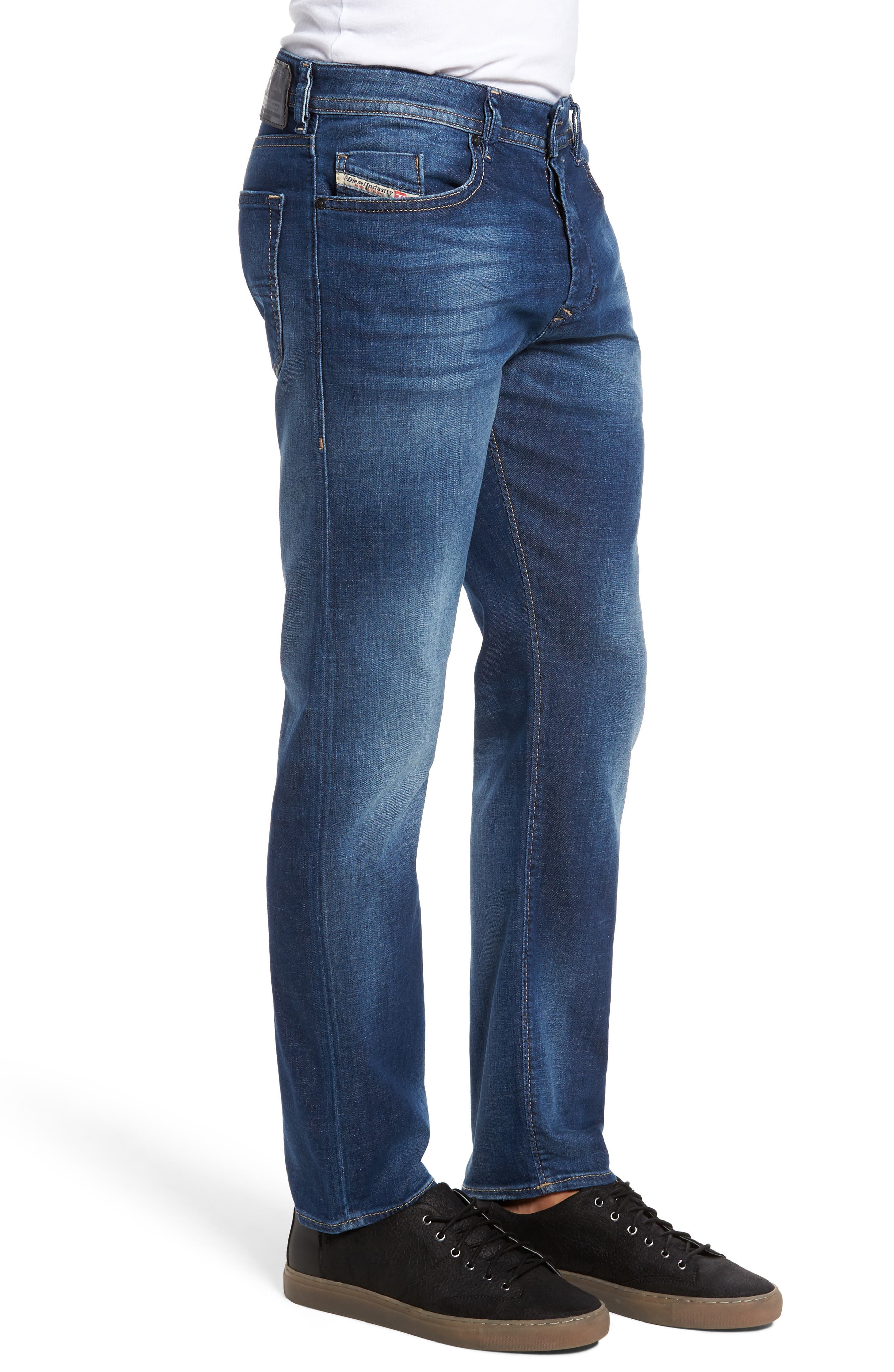 Buster Slim Straight Leg Jeans,                             Alternate thumbnail 3, color,                             400
