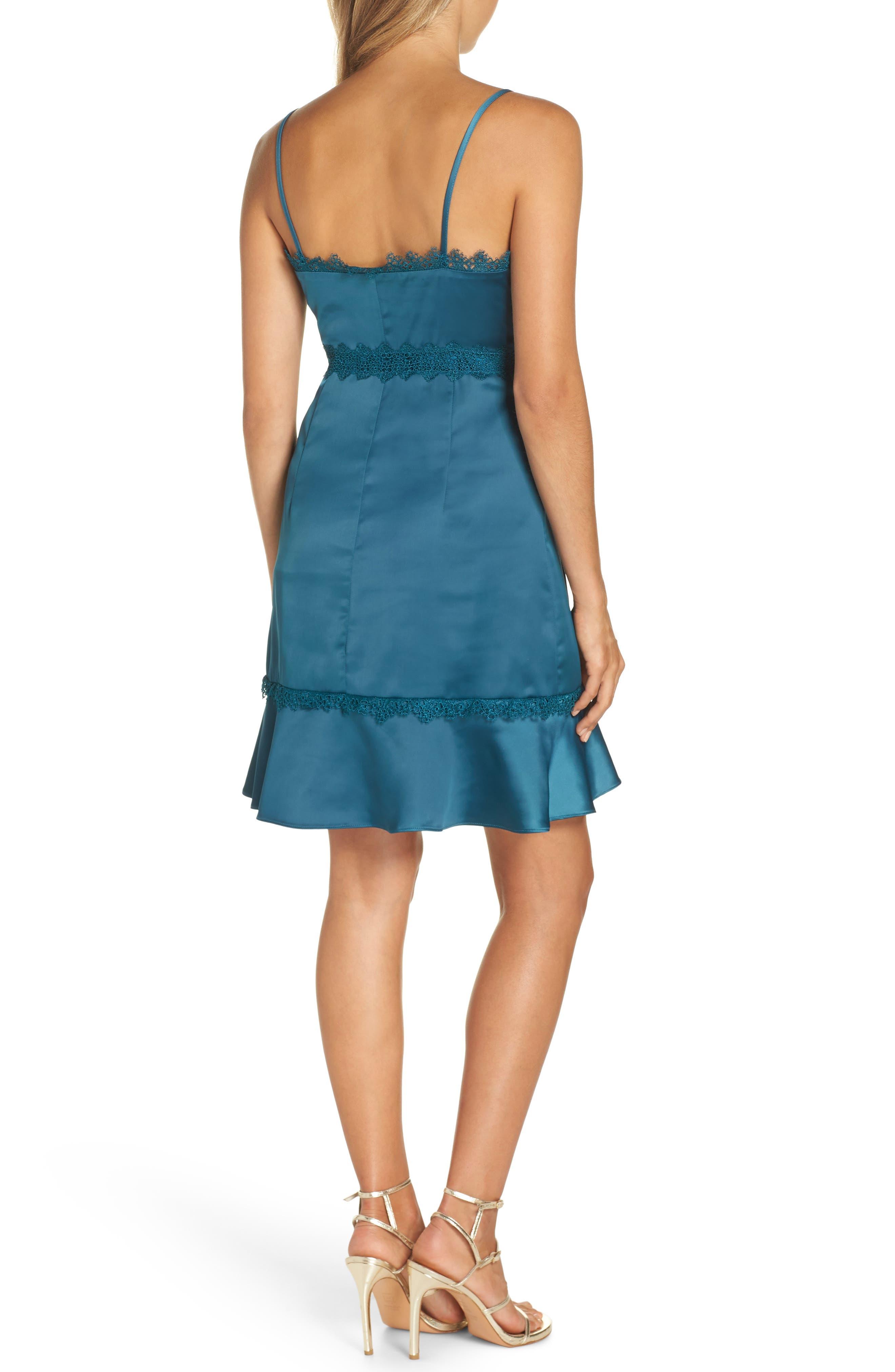 Betty Satin & Soutache Party Dress,                             Alternate thumbnail 2, color,                             TEAL