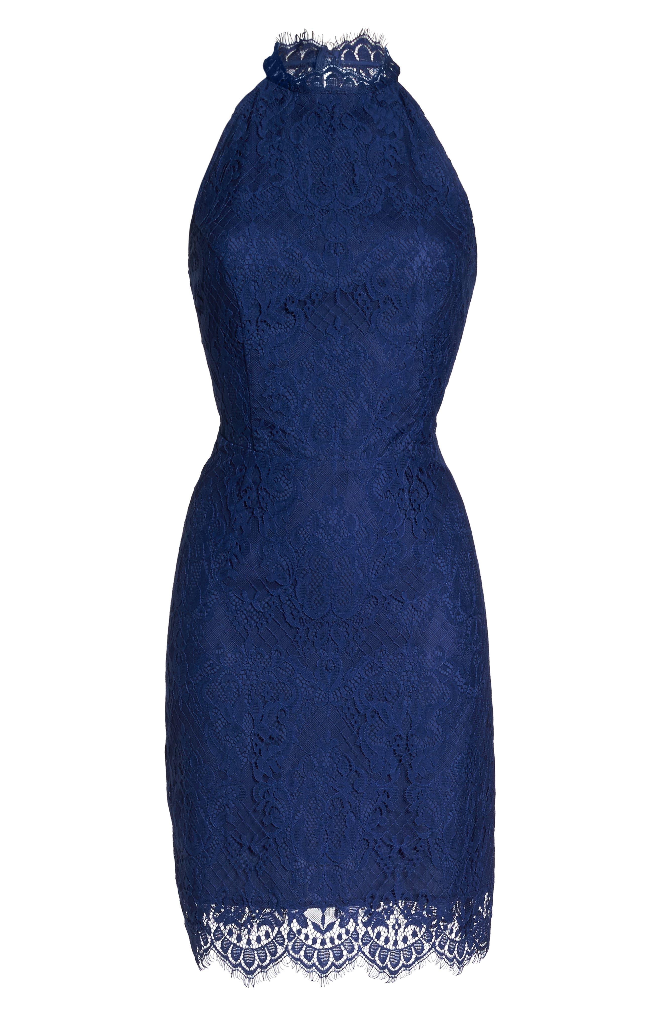 Cherie Lace Sheath Dress,                             Alternate thumbnail 6, color,                             401