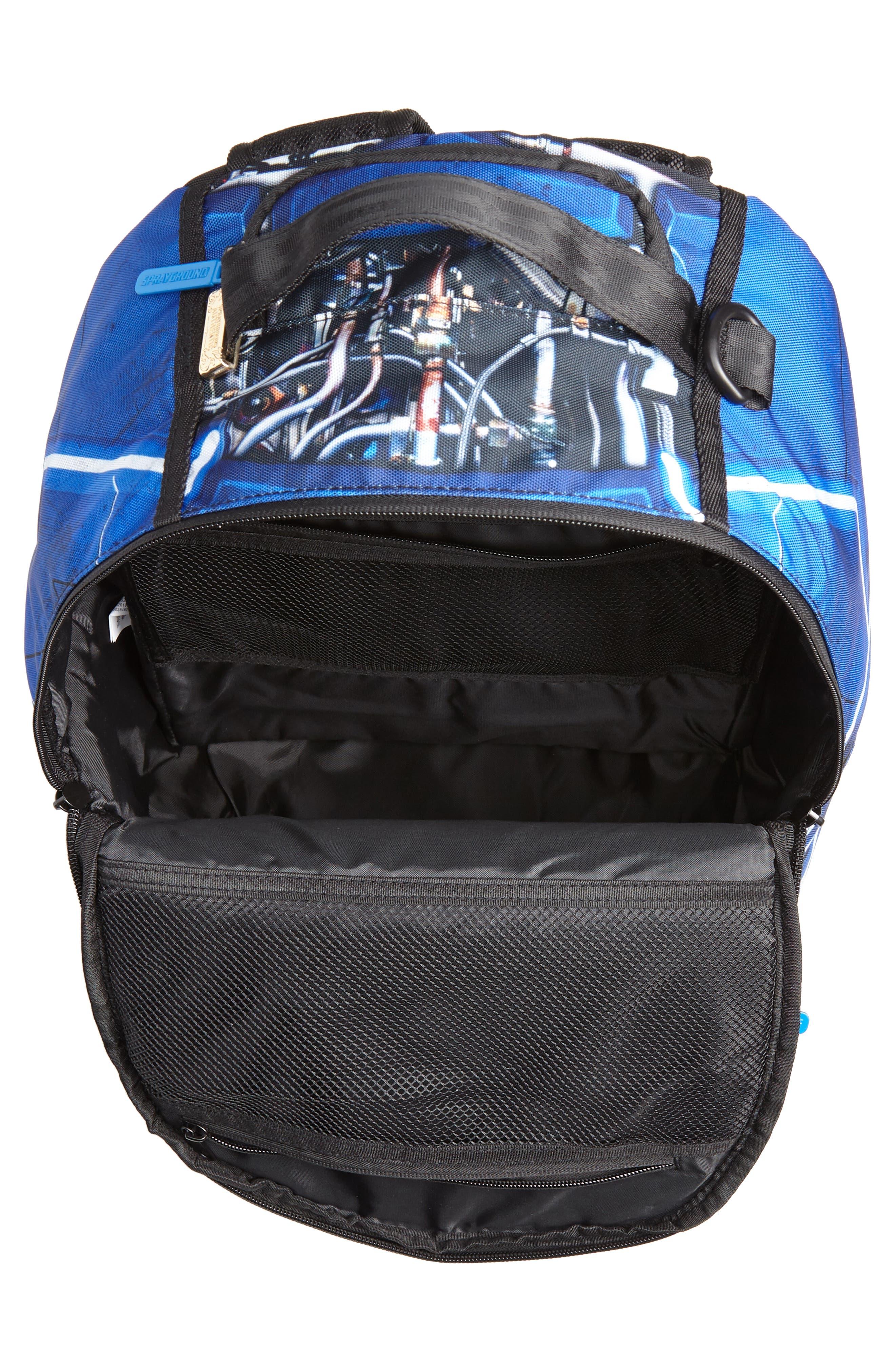 SPRAYGROUND,                             Curry Elysium Backpack,                             Alternate thumbnail 4, color,                             BLUE