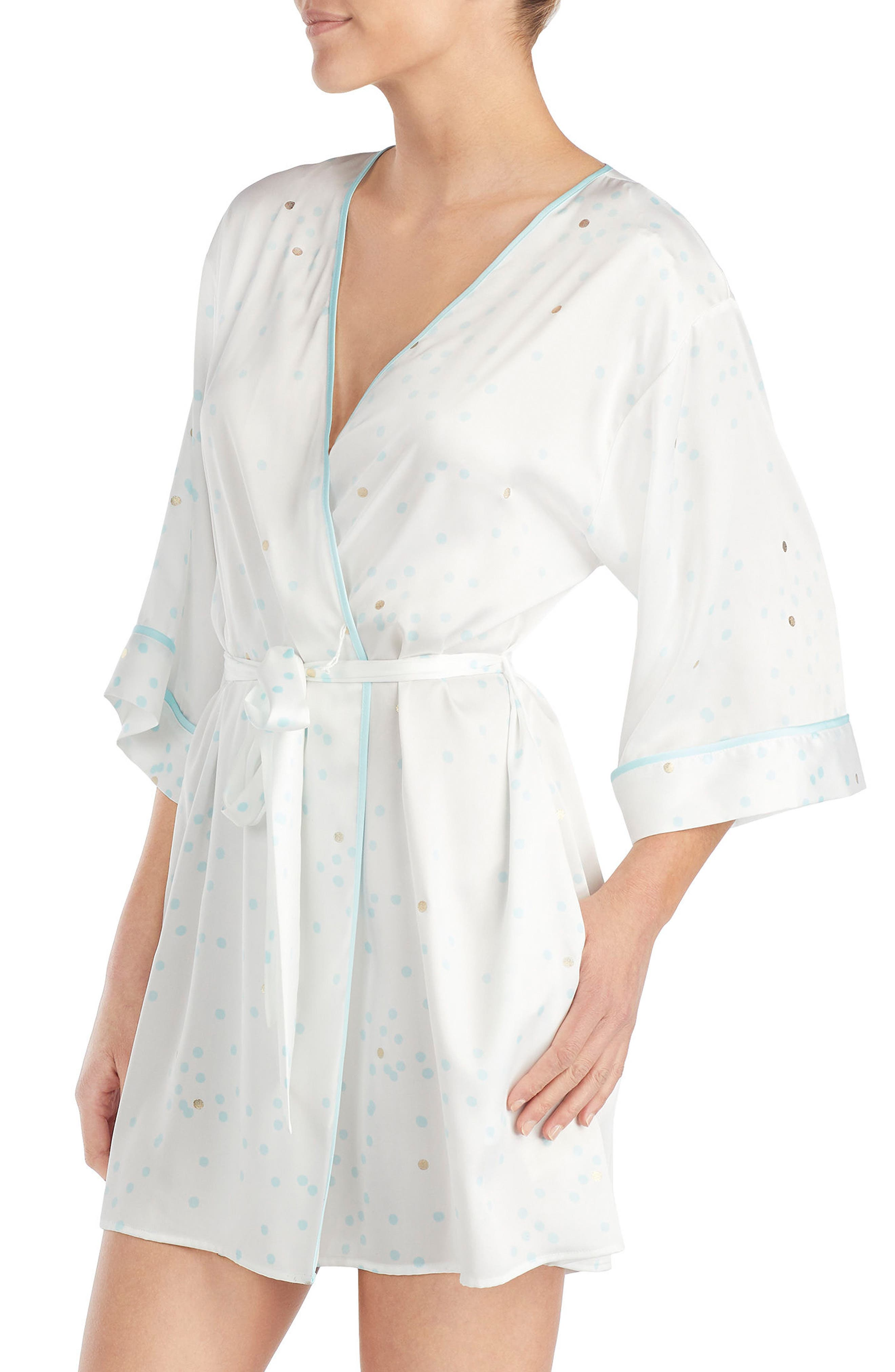 three-quarter sleeve robe,                             Alternate thumbnail 3, color,                             107