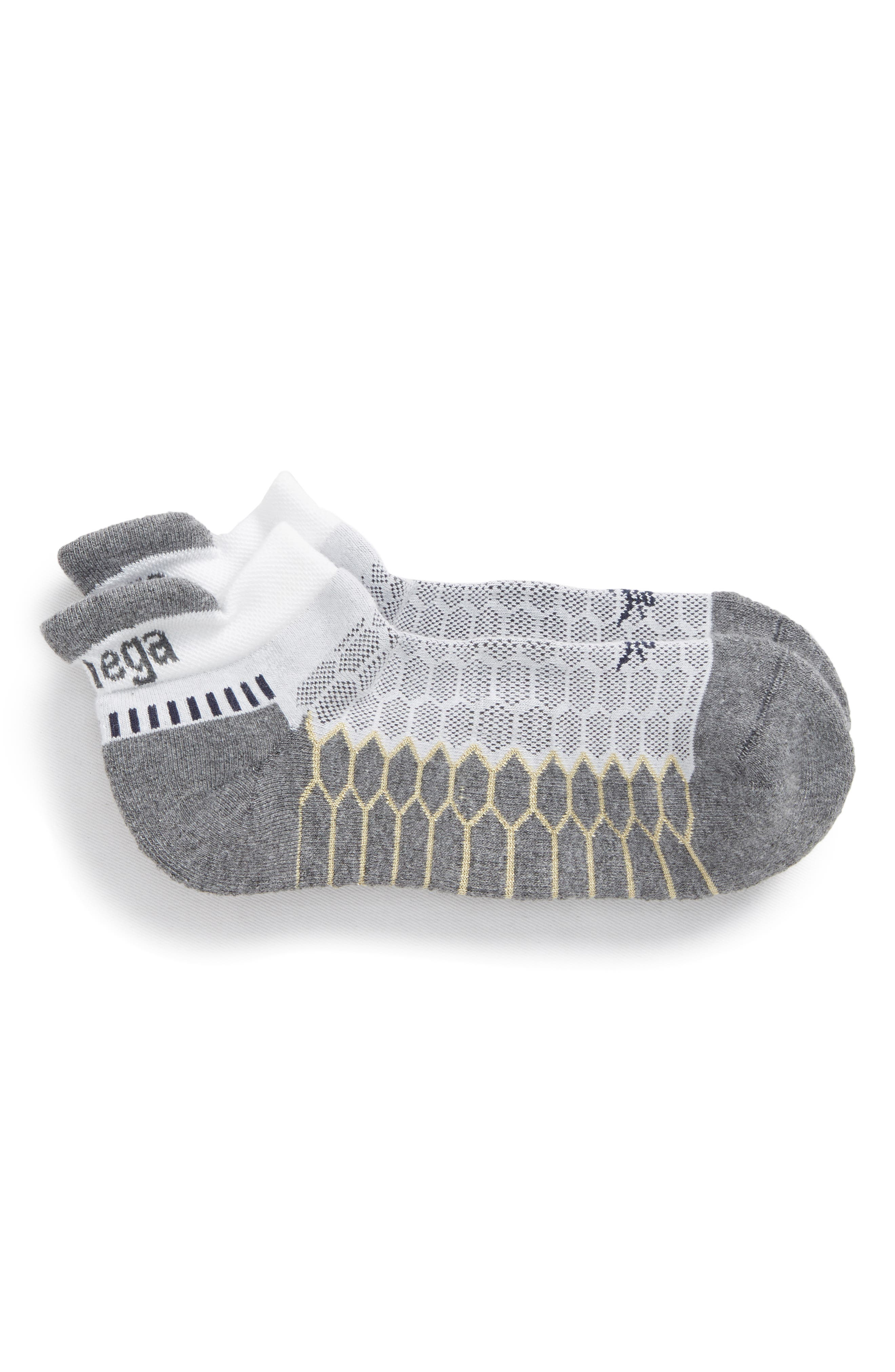 Silver Socks,                             Main thumbnail 1, color,                             WHITE/ GREY