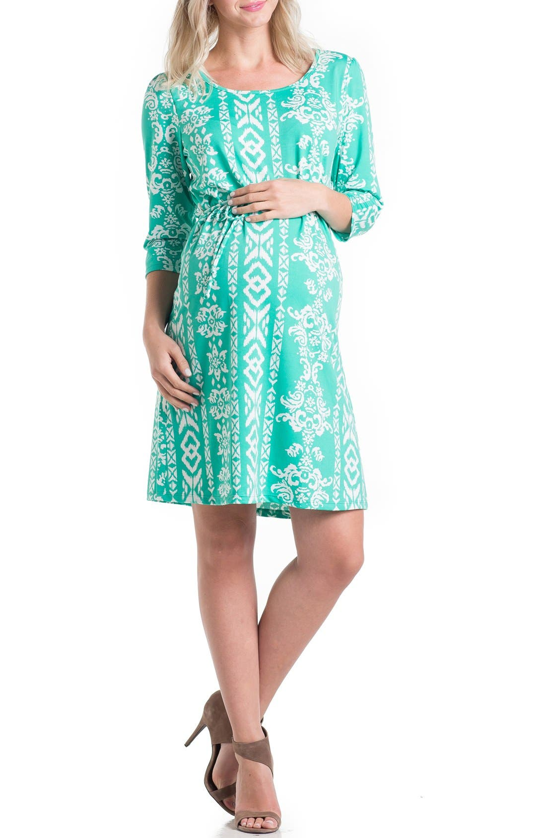 Print Maternity Dress,                             Main thumbnail 3, color,
