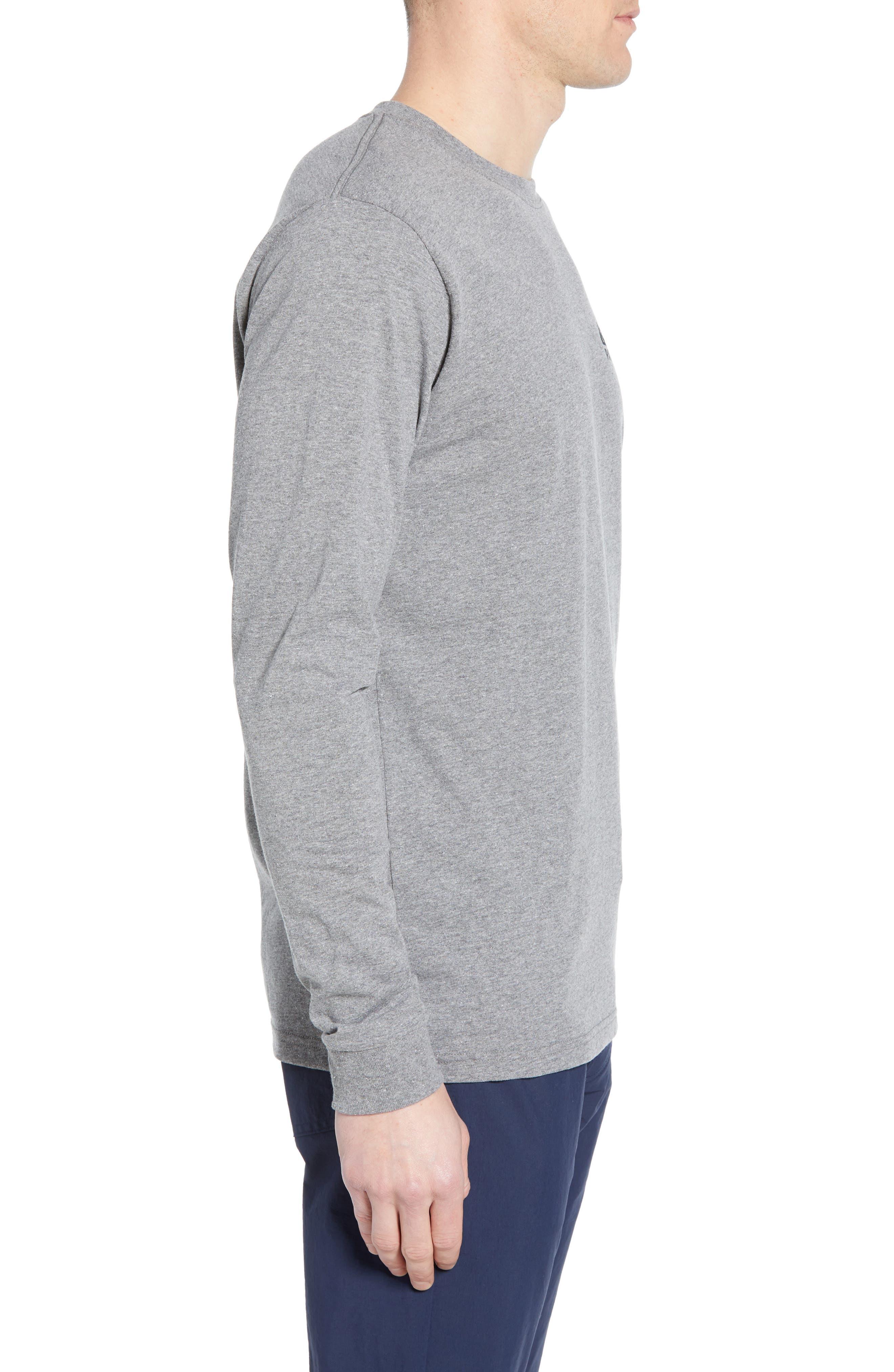 Fitz Roy Scope Long Sleeve Responsibili-Tee T-Shirt,                             Alternate thumbnail 3, color,                             GRAVEL HEATHER
