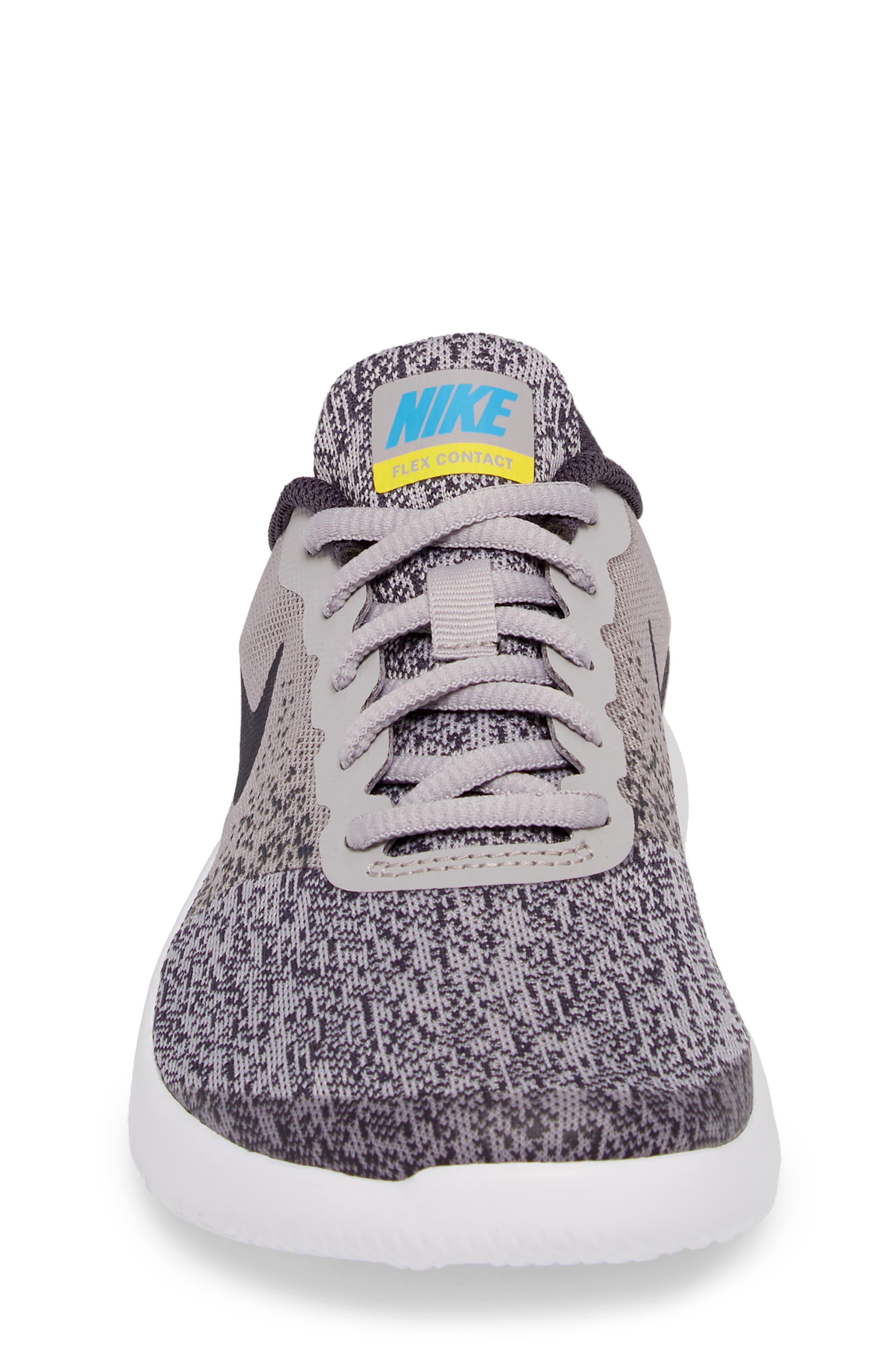 Flex Contact Running Shoe,                             Alternate thumbnail 4, color,                             ATMOSPHERE GREY/ LASER ORANGE
