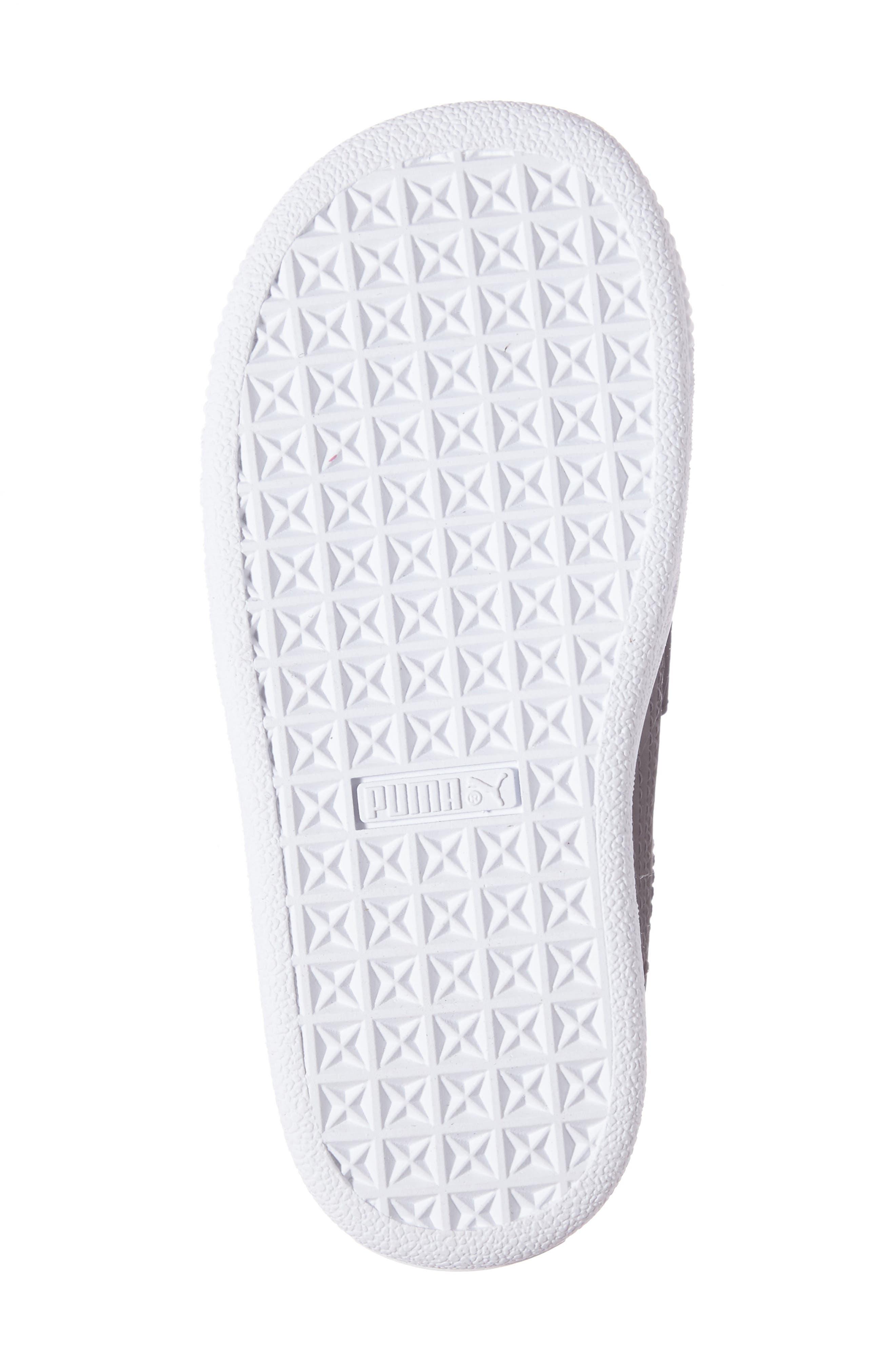 Basket Swan Feather Print Sneaker,                             Alternate thumbnail 4, color,                             001