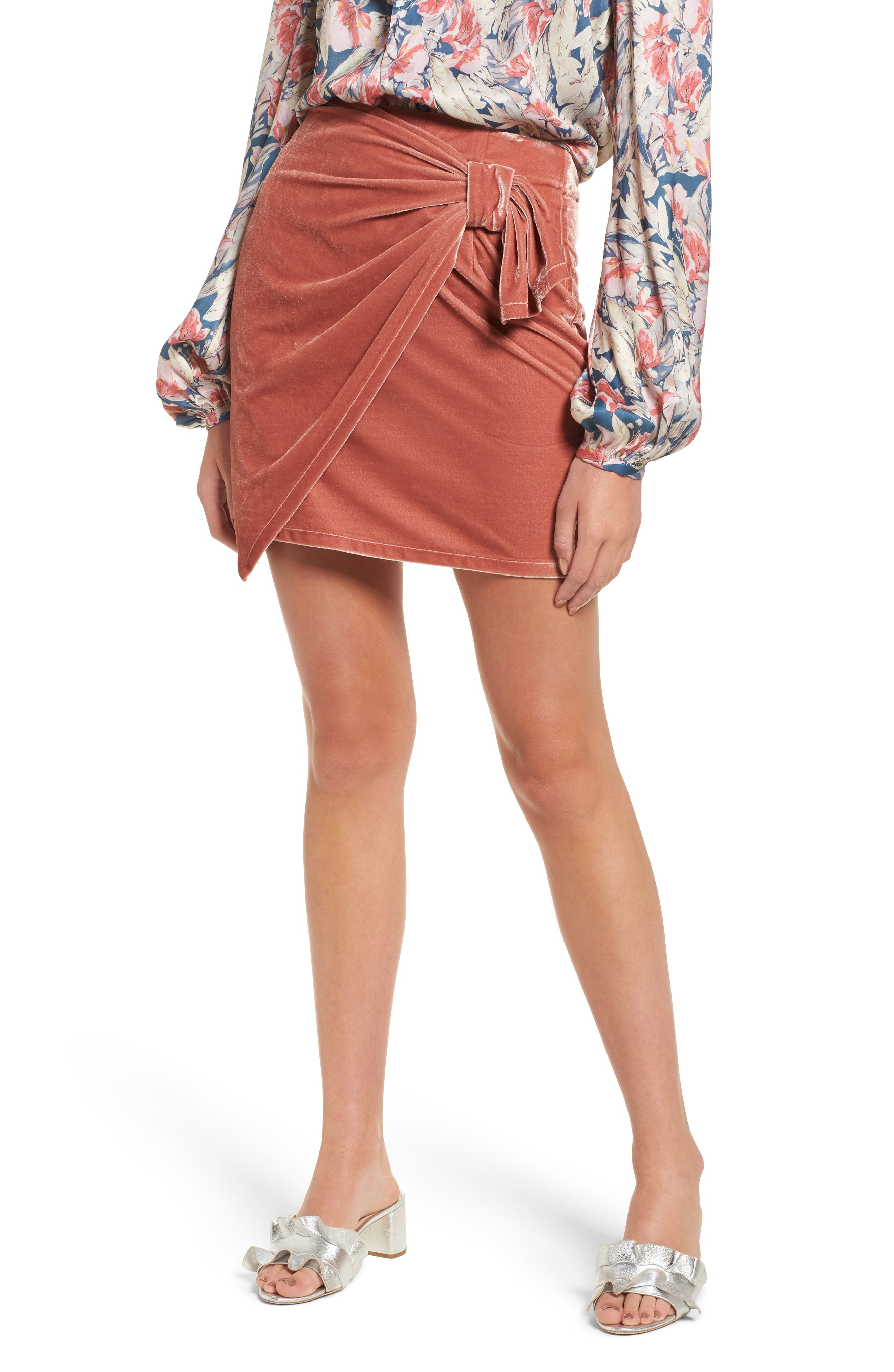 Katie Faux Wrap Skirt,                         Main,                         color,
