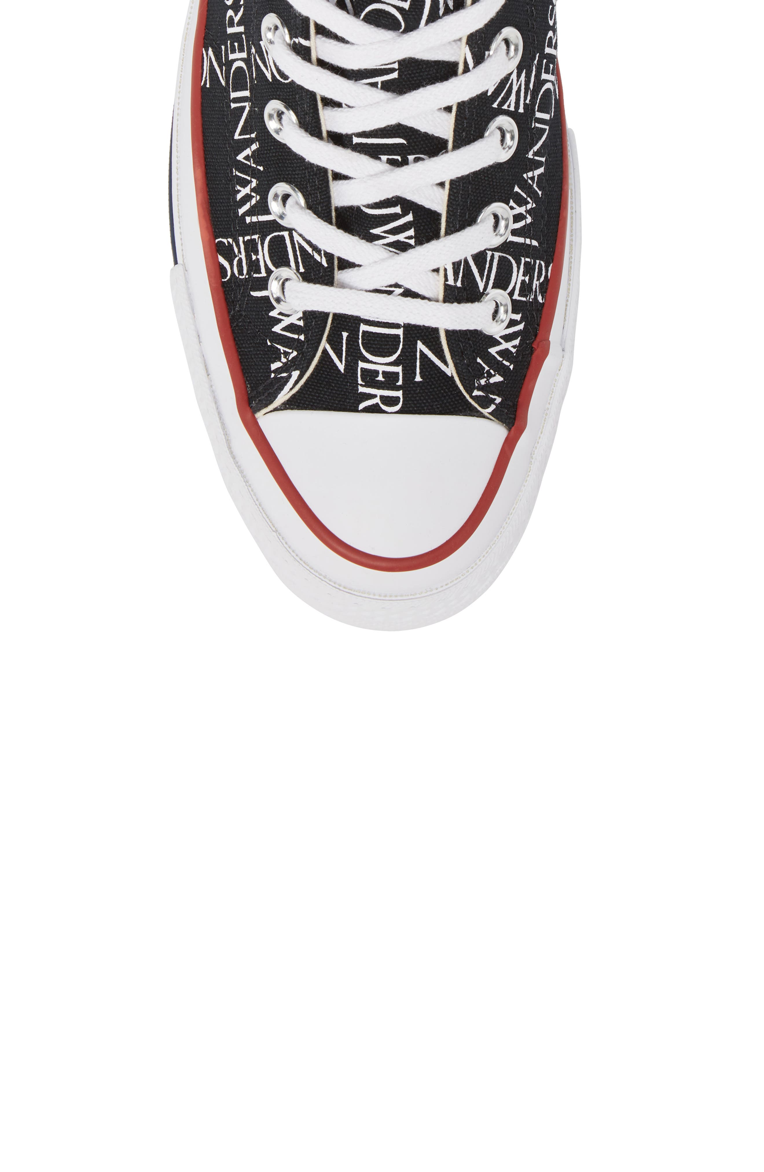 x JW Anderson Chuck Taylor<sup>®</sup> All Star<sup>®</sup> 70 Grid Sneaker,                             Alternate thumbnail 5, color,                             BLACK CANVAS