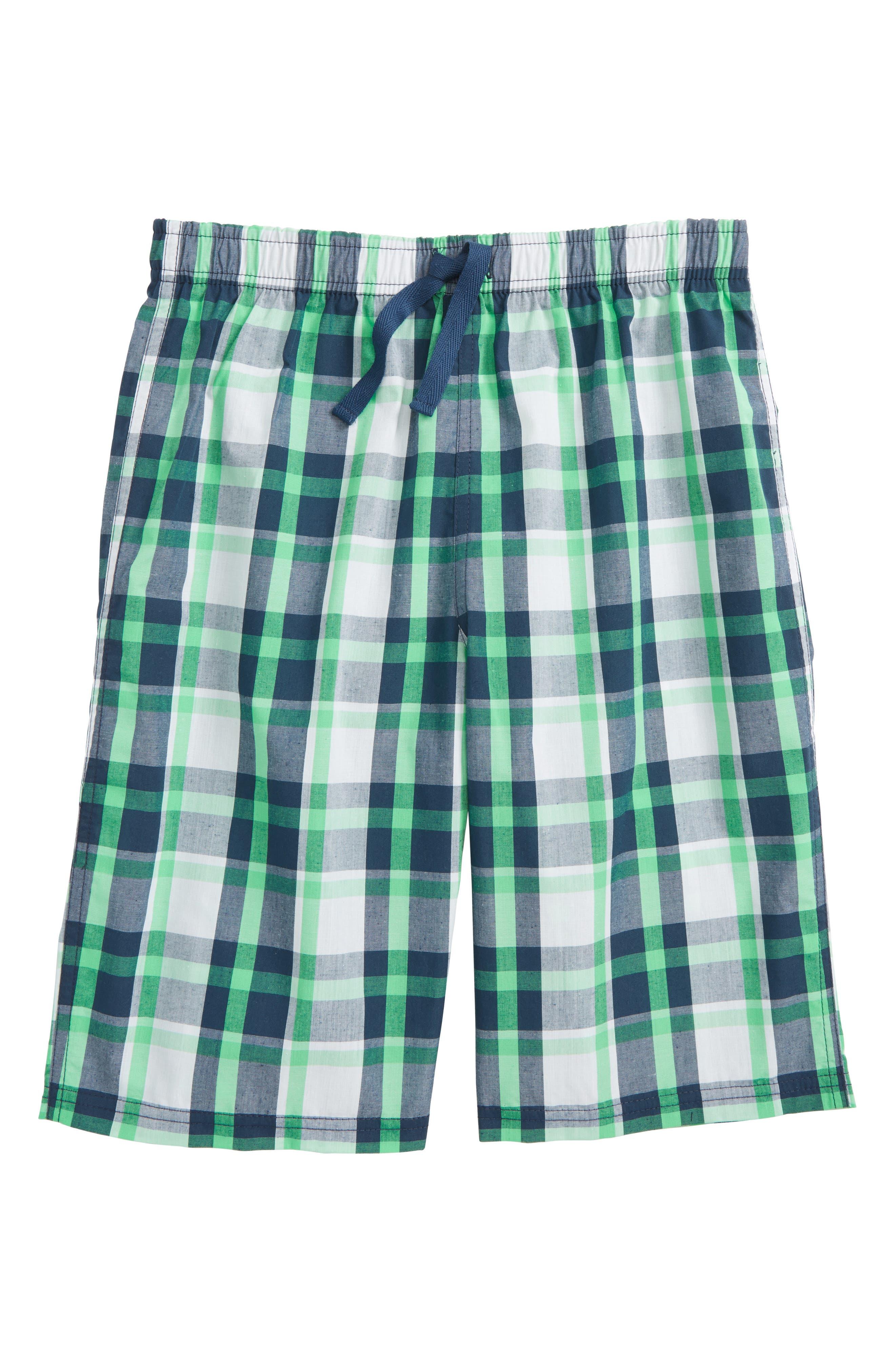 Plaid Sleep Shorts,                             Main thumbnail 1, color,                             410