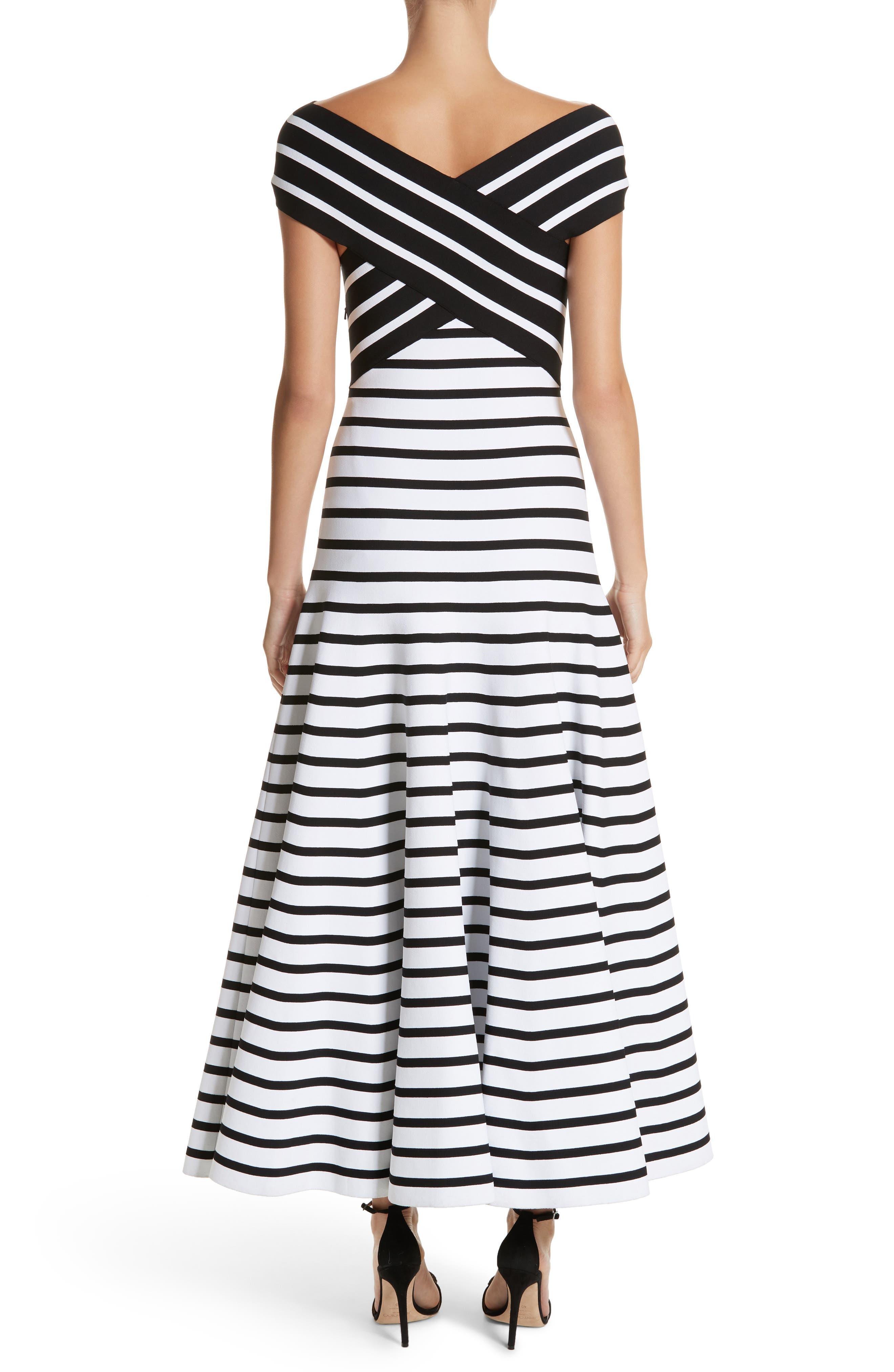 Stripe Off the Shoulder Maxi Dress,                             Alternate thumbnail 2, color,