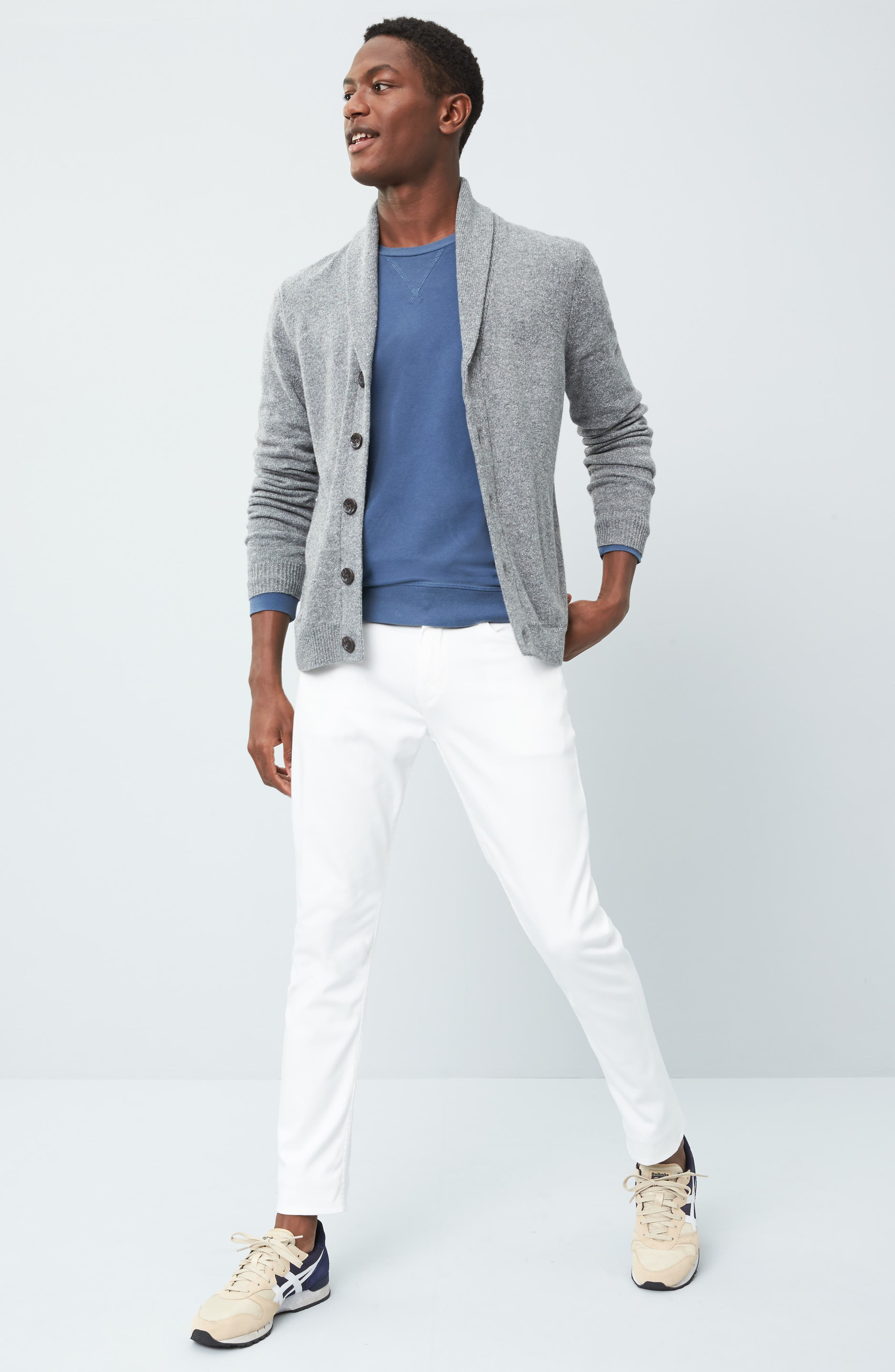 Shawl Collar Cardigan,                             Alternate thumbnail 7, color,                             030