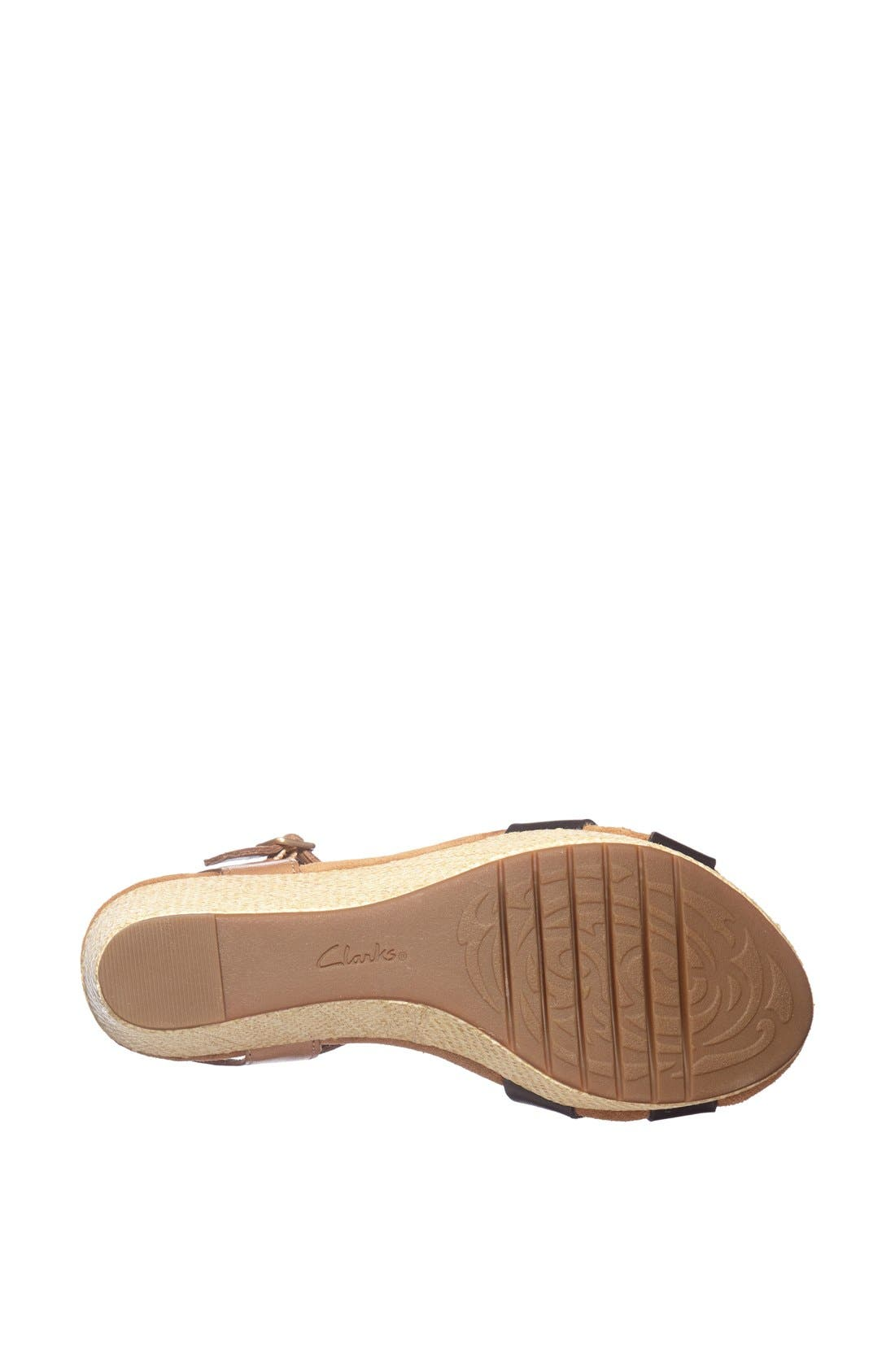 CLARKS<SUP>®</SUP>,                             'Caslynn Regina' Sandal,                             Alternate thumbnail 4, color,                             005