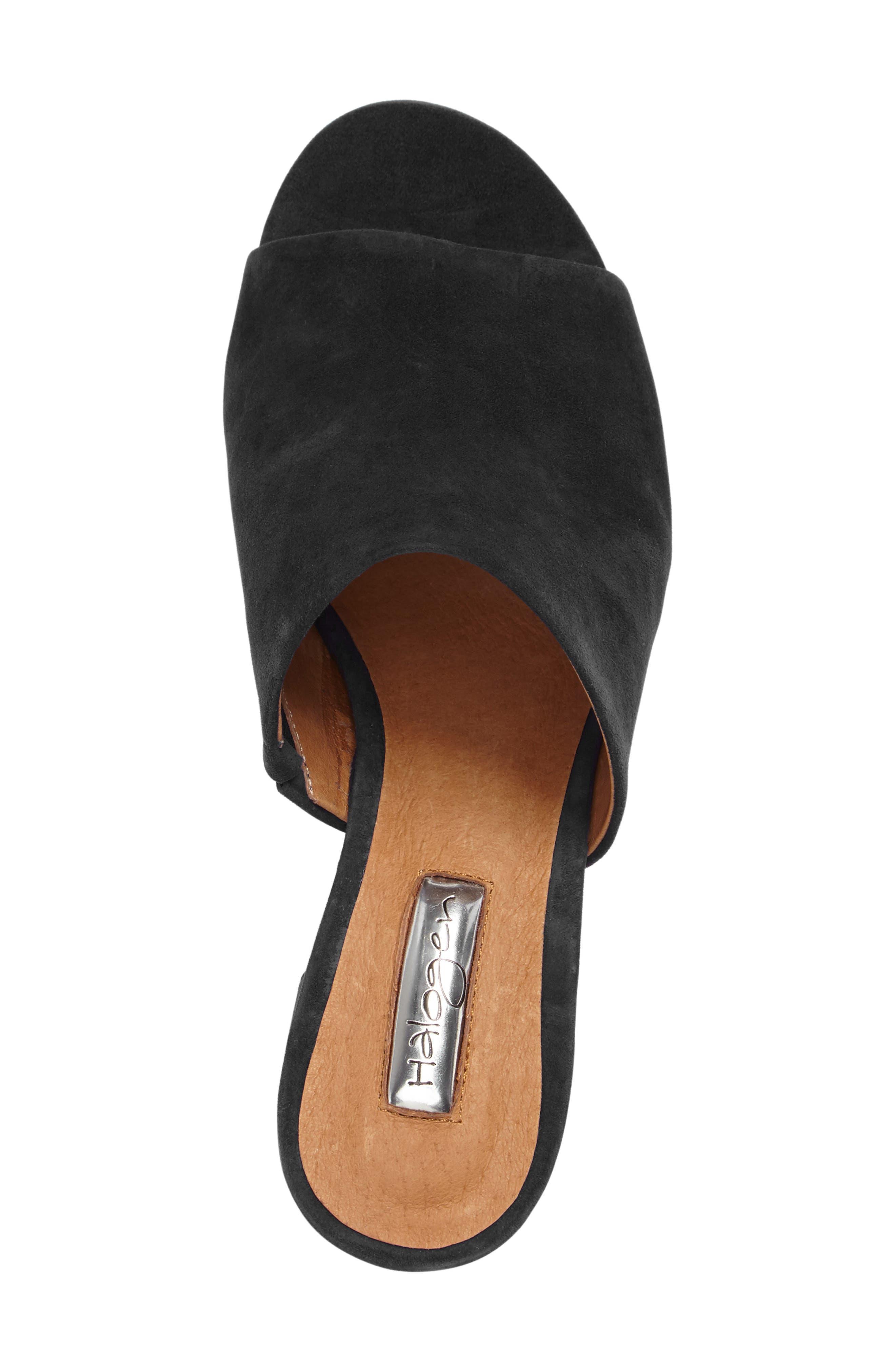 Freda Slide Sandal,                             Alternate thumbnail 3, color,                             BLACK SUEDE
