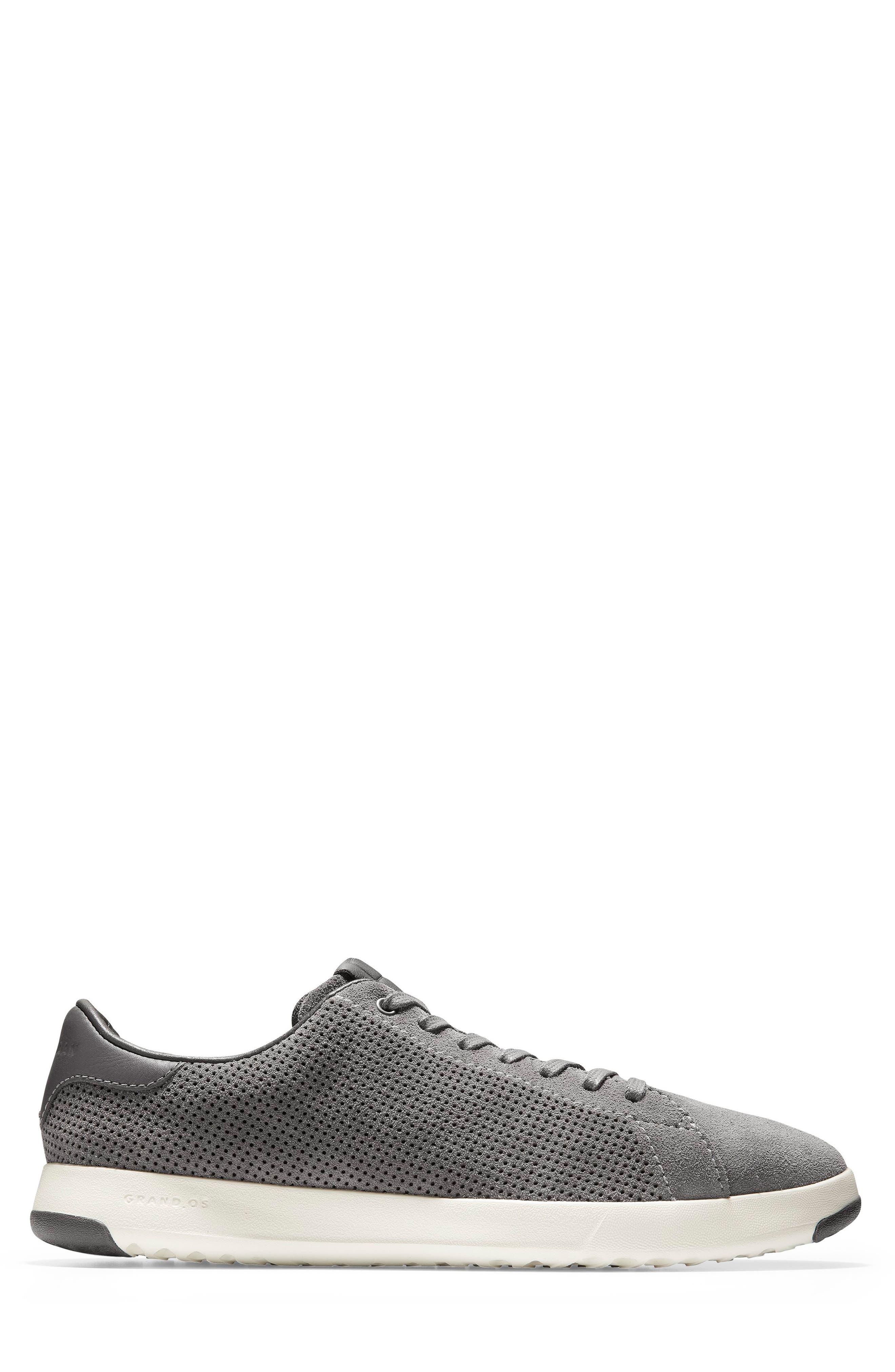GrandPro Tennis Sneaker,                             Alternate thumbnail 3, color,                             GREY SUEDE