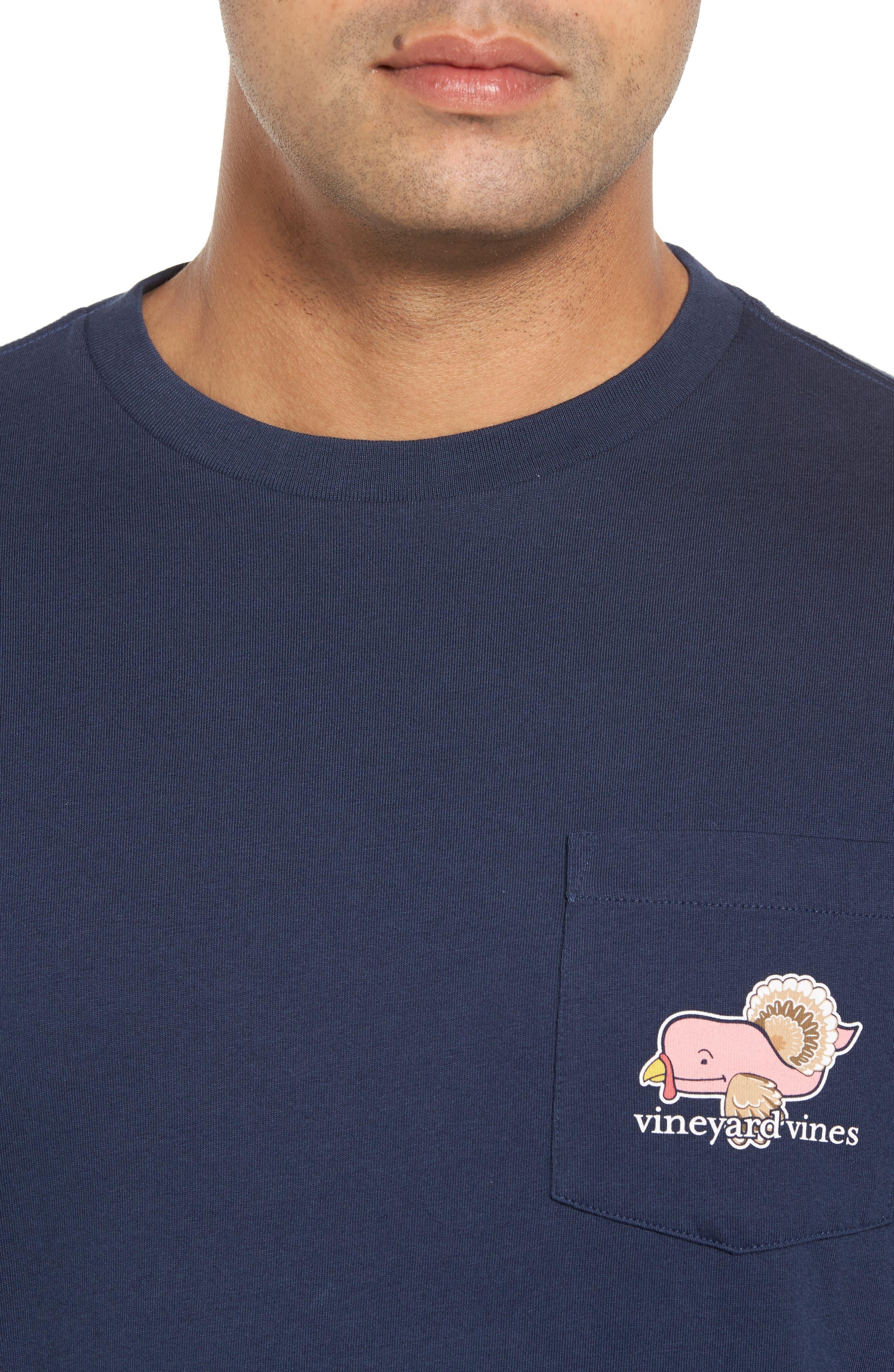 Turkey Whale Graphic Long Sleeve Pocket T-Shirt,                             Alternate thumbnail 4, color,                             406