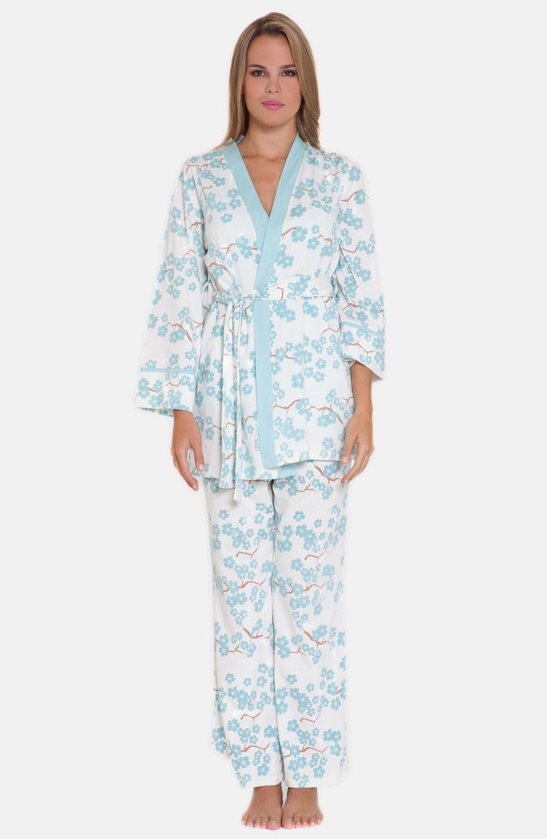 4-Piece Maternity Sleepwear Gift Set,                             Alternate thumbnail 4, color,