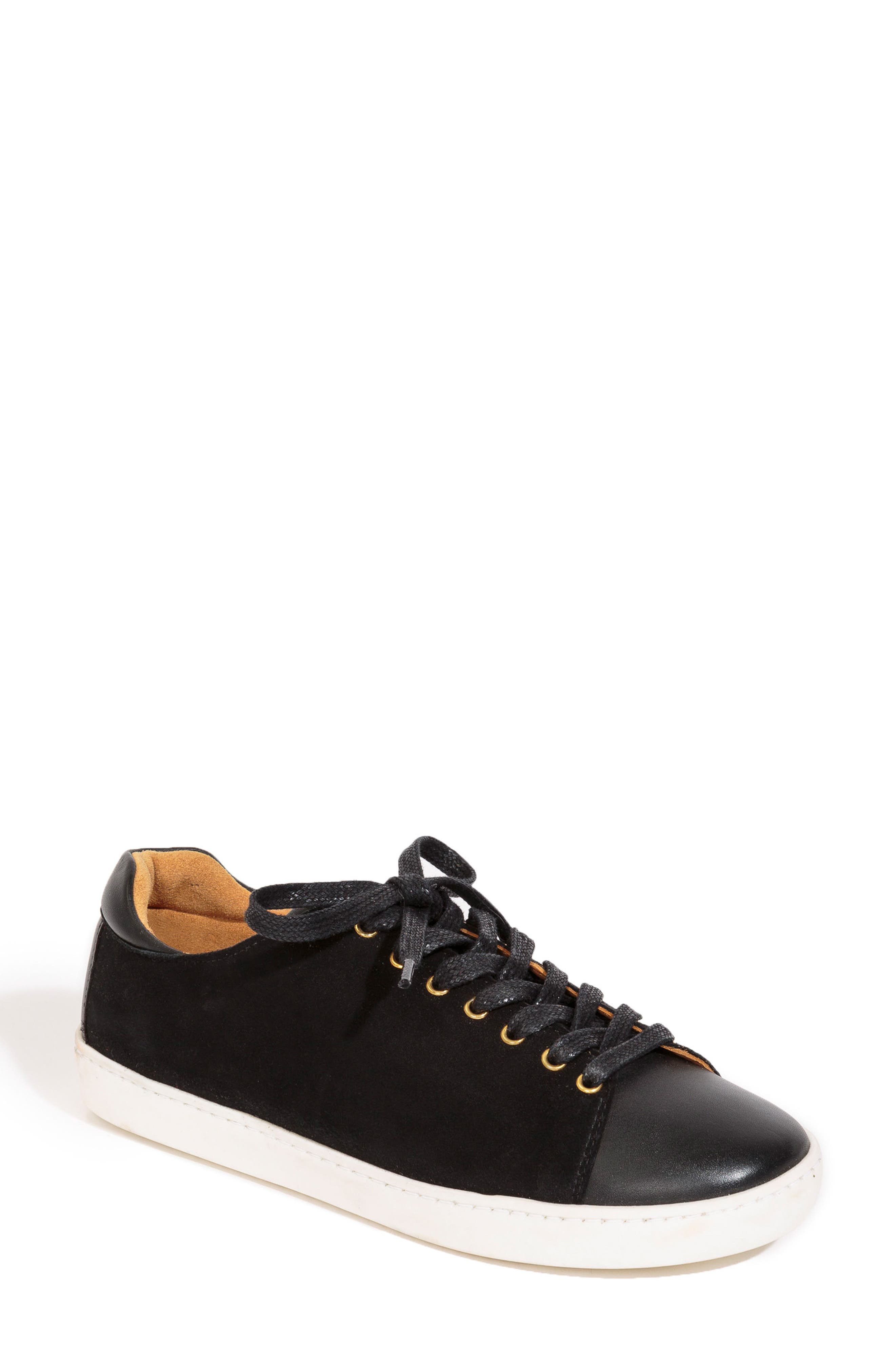 Jack Sneaker,                             Main thumbnail 1, color,                             BLACK SUEDE