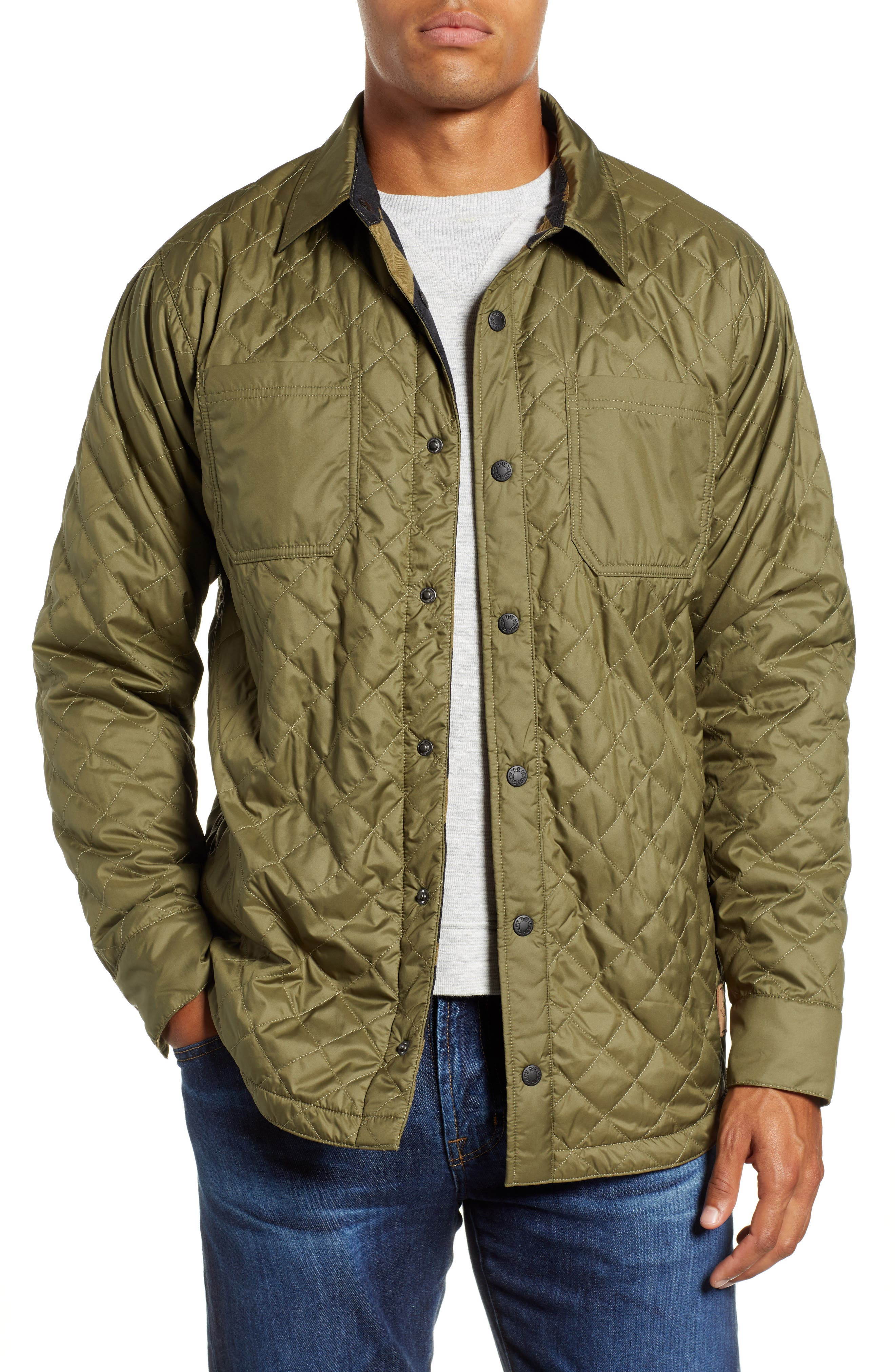 Fort Point Insulated Shirt Jacket,                         Main,                         color, BURNT OLIVE GREEN